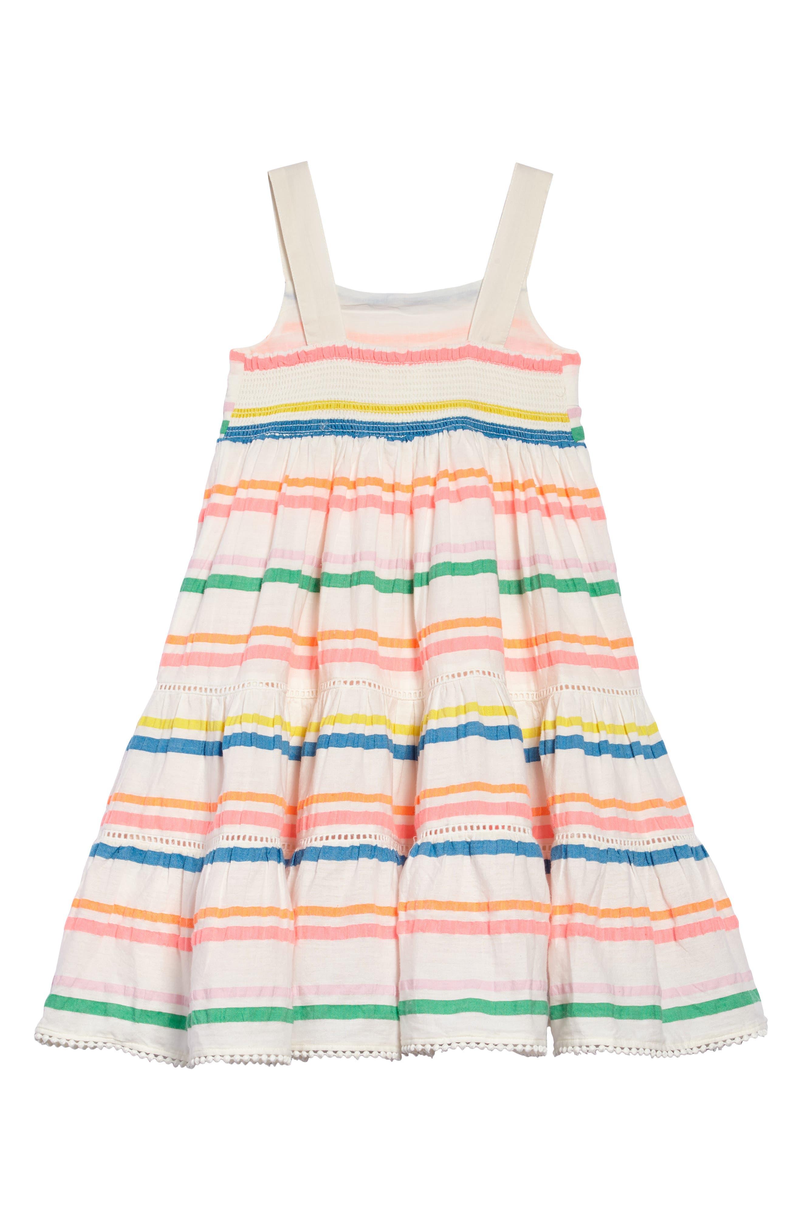 Twirly Tiered Dress,                             Alternate thumbnail 2, color,                             Mulneon Rainbow Multistripe