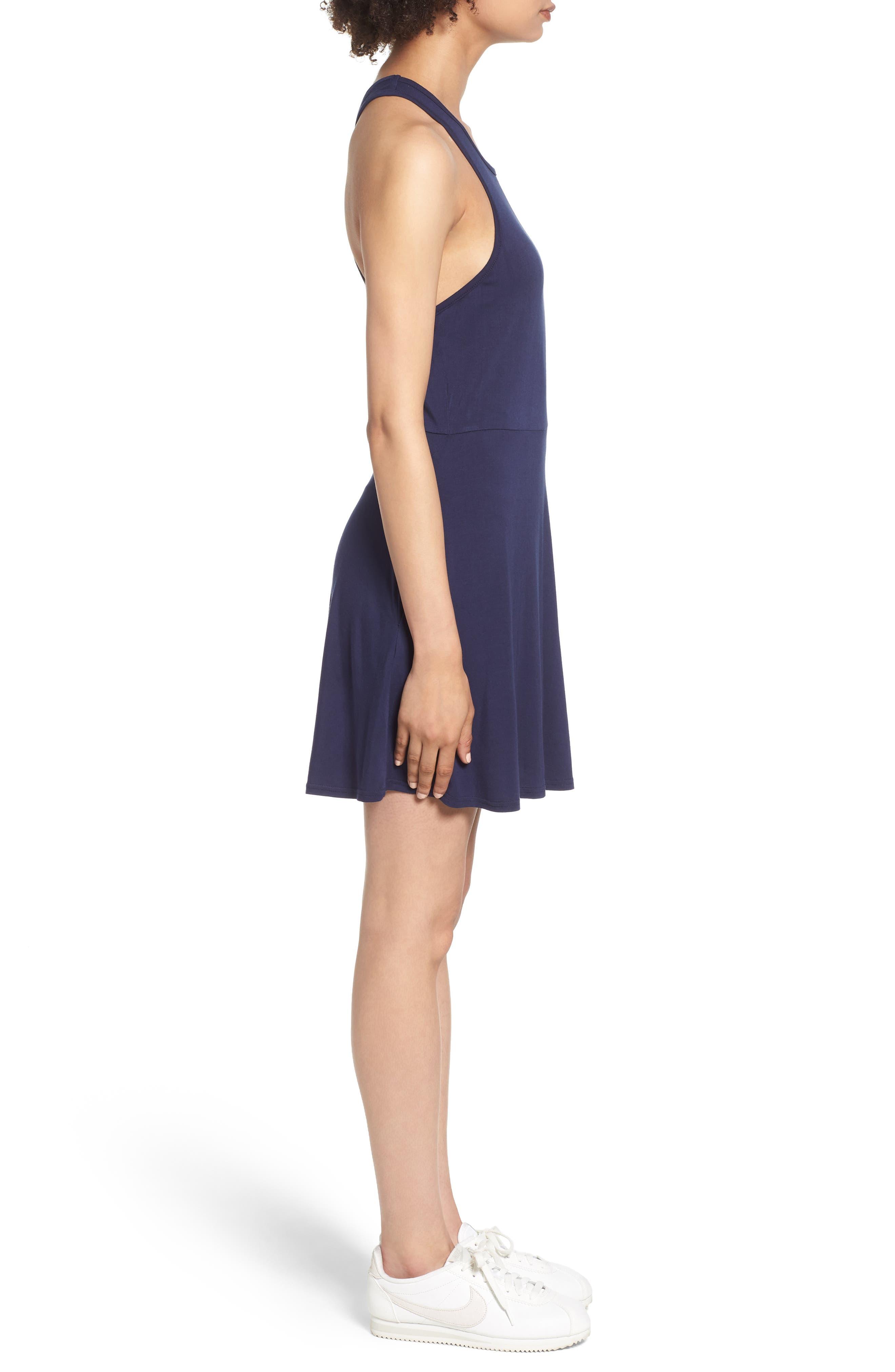 Iris Racerback Dress,                             Alternate thumbnail 3, color,                             Shady Blue