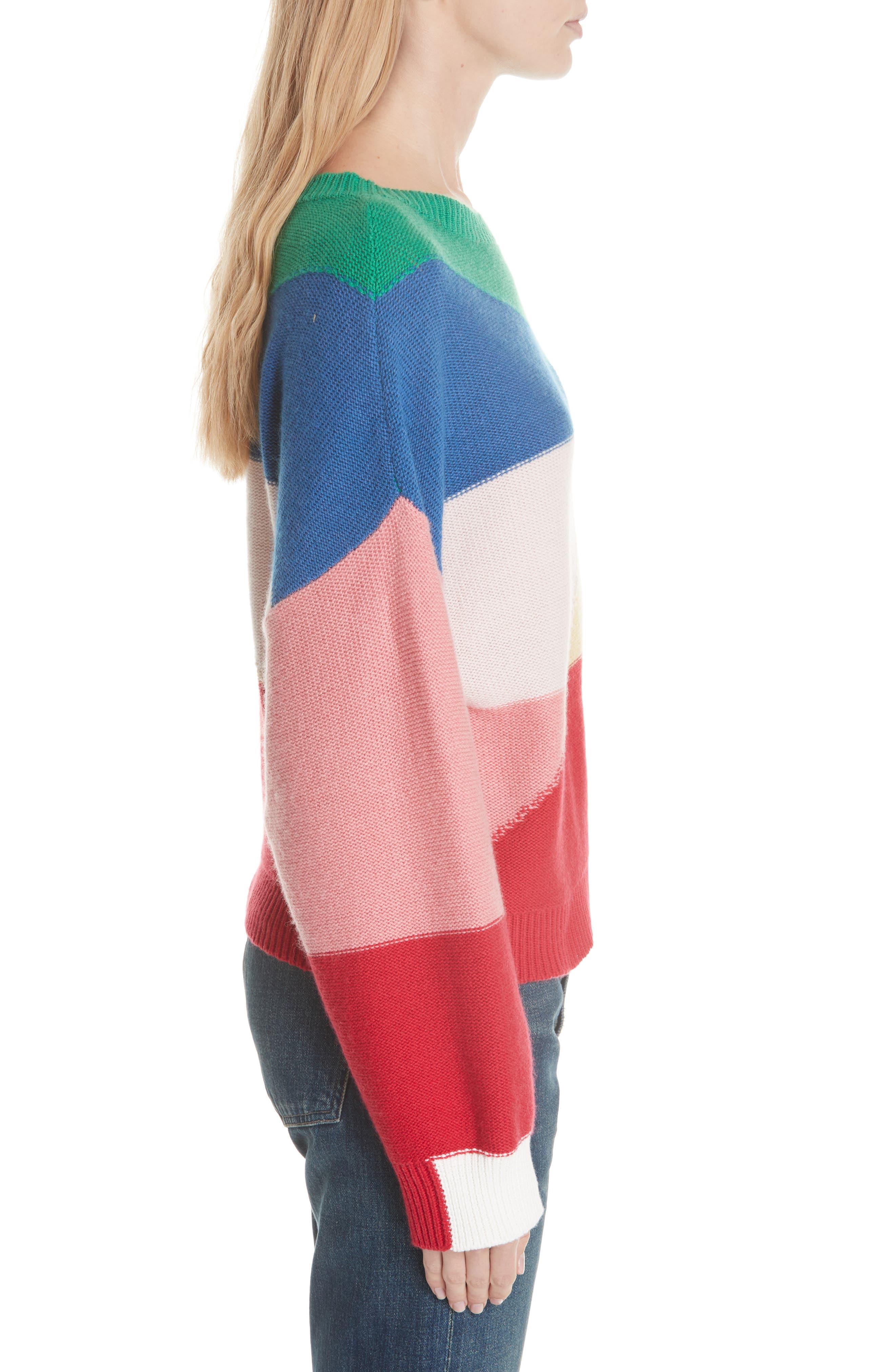 Megu Colorblock Wool & Cashmere Sweater,                             Alternate thumbnail 5, color,                             Multi