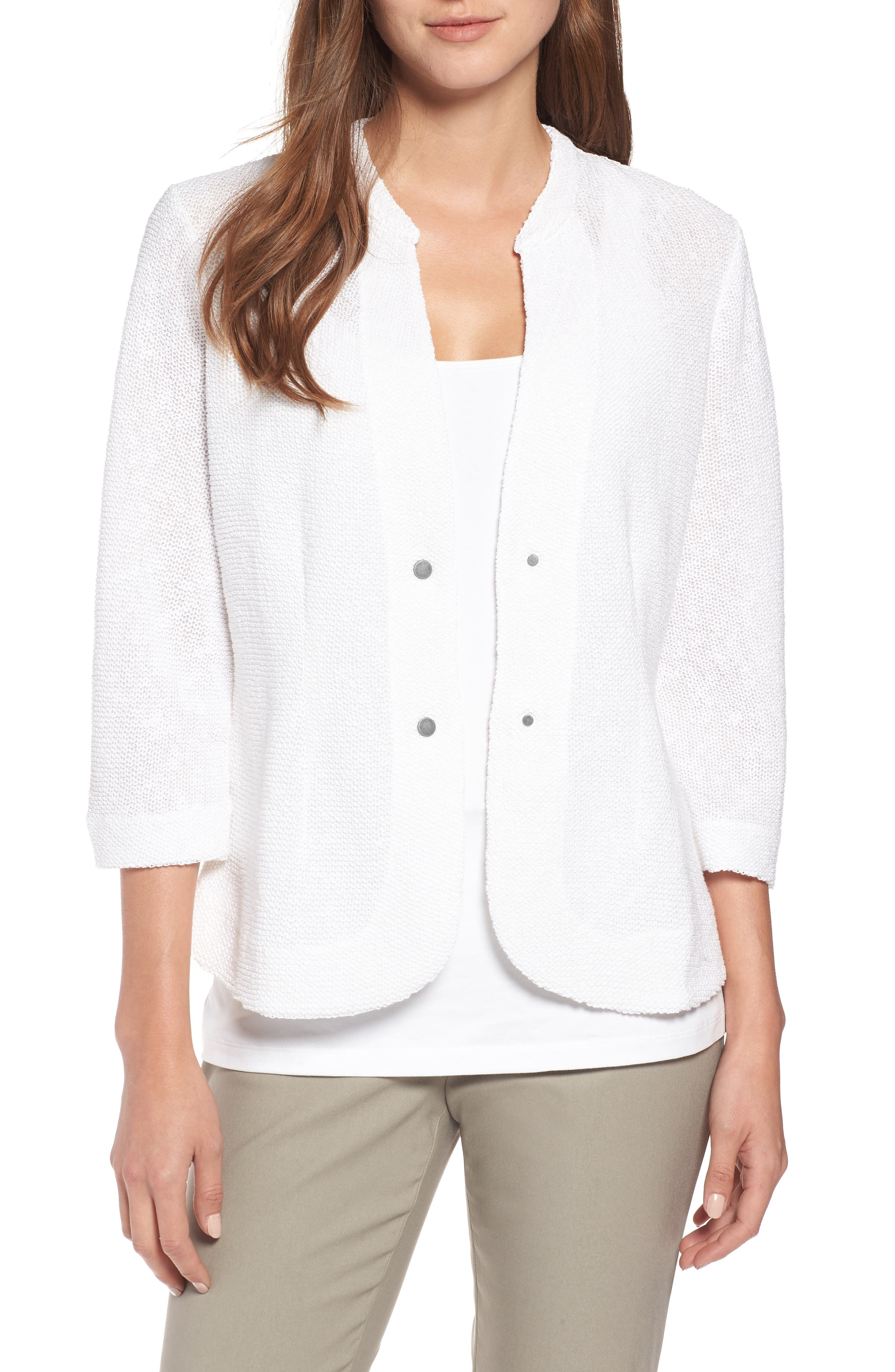 Summer Nights Jacket,                         Main,                         color, Paper White