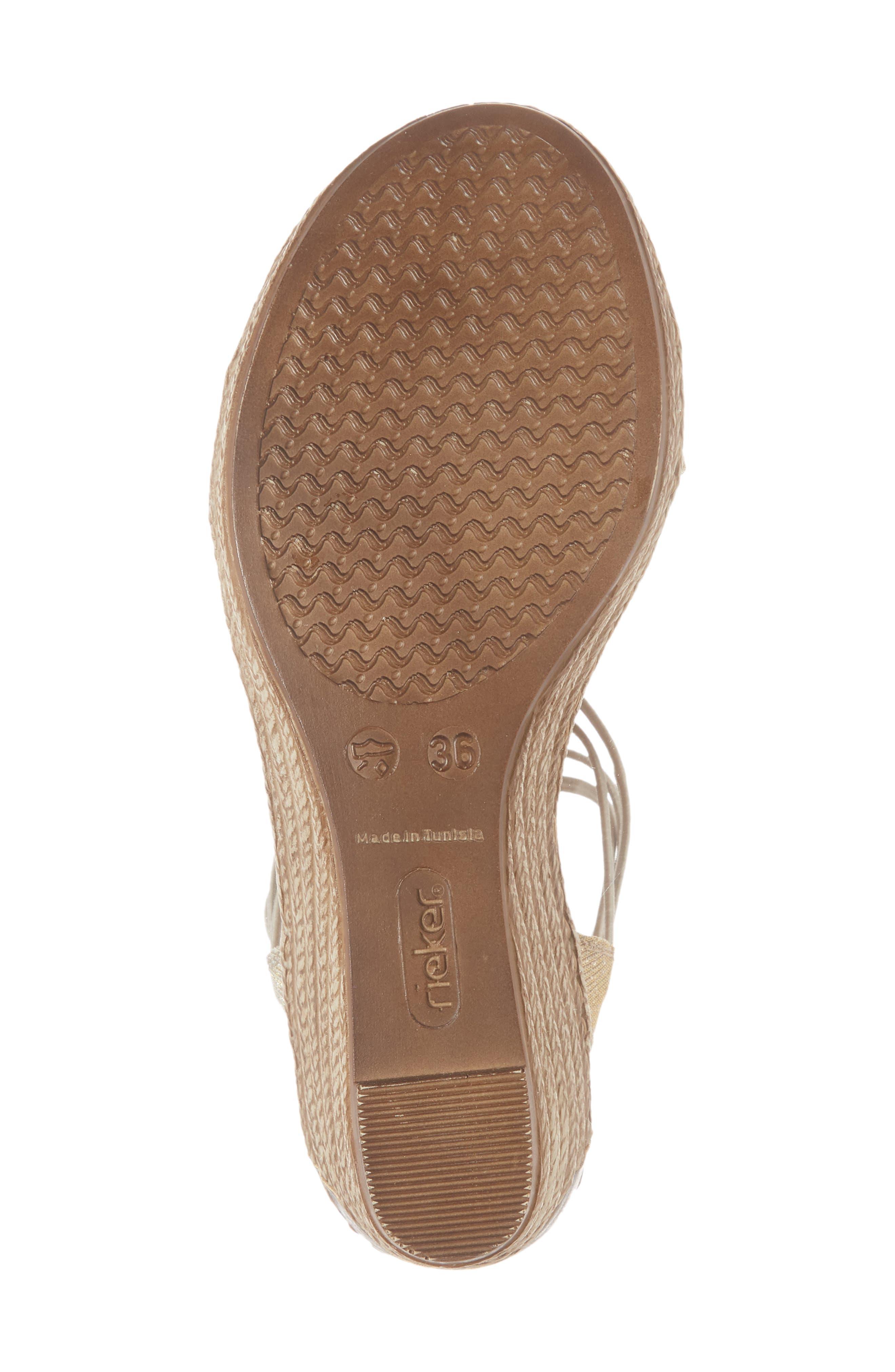 Fanni 22 Espadrille Wedge Sandal,                             Alternate thumbnail 6, color,                             Light Gold/ Grey Fabric