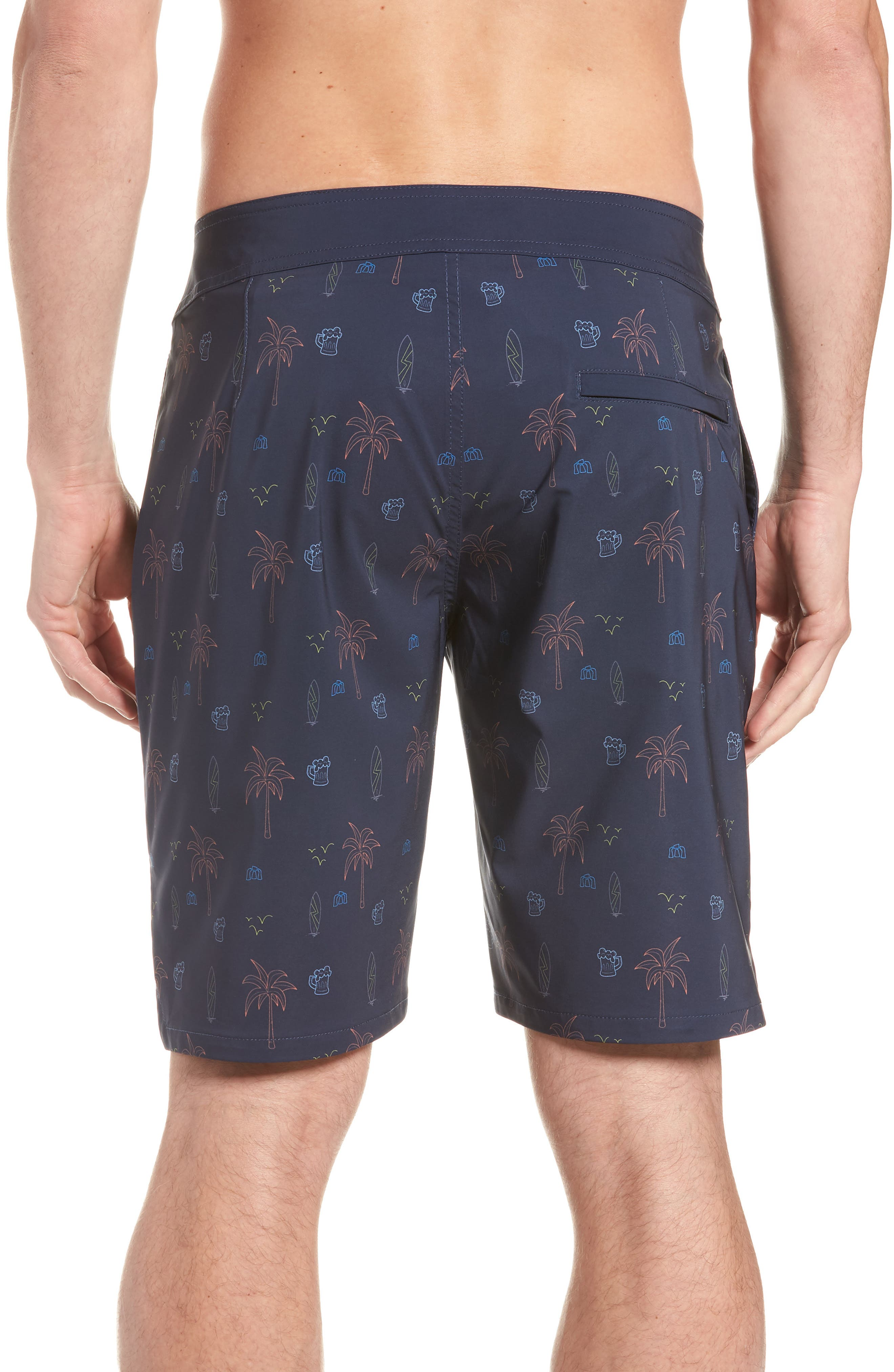 Safari Regular Fit Board Shorts,                             Alternate thumbnail 2, color,                             Blue Nights