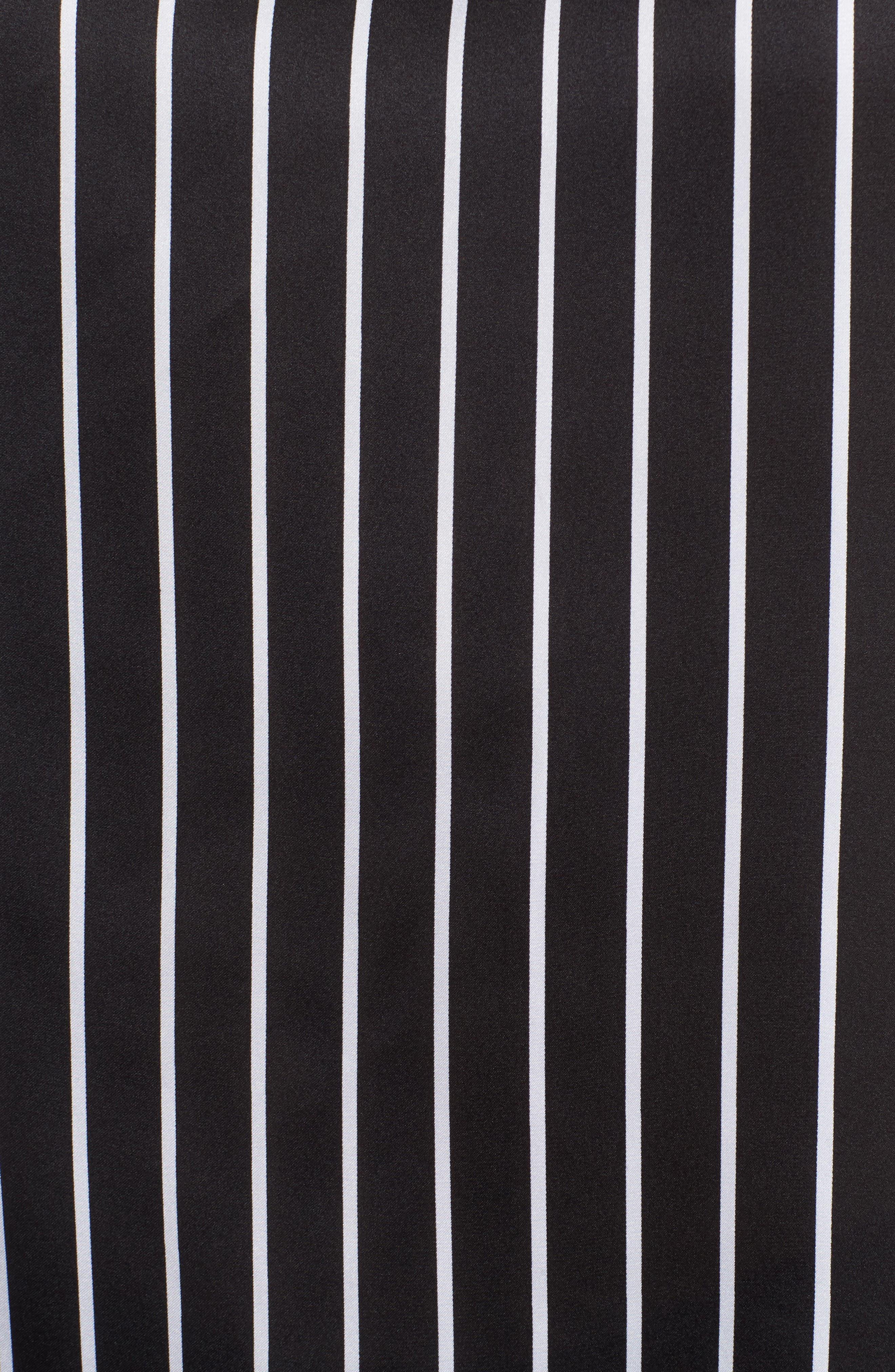 Circle Blouse,                             Alternate thumbnail 6, color,                             Street Stripe Black