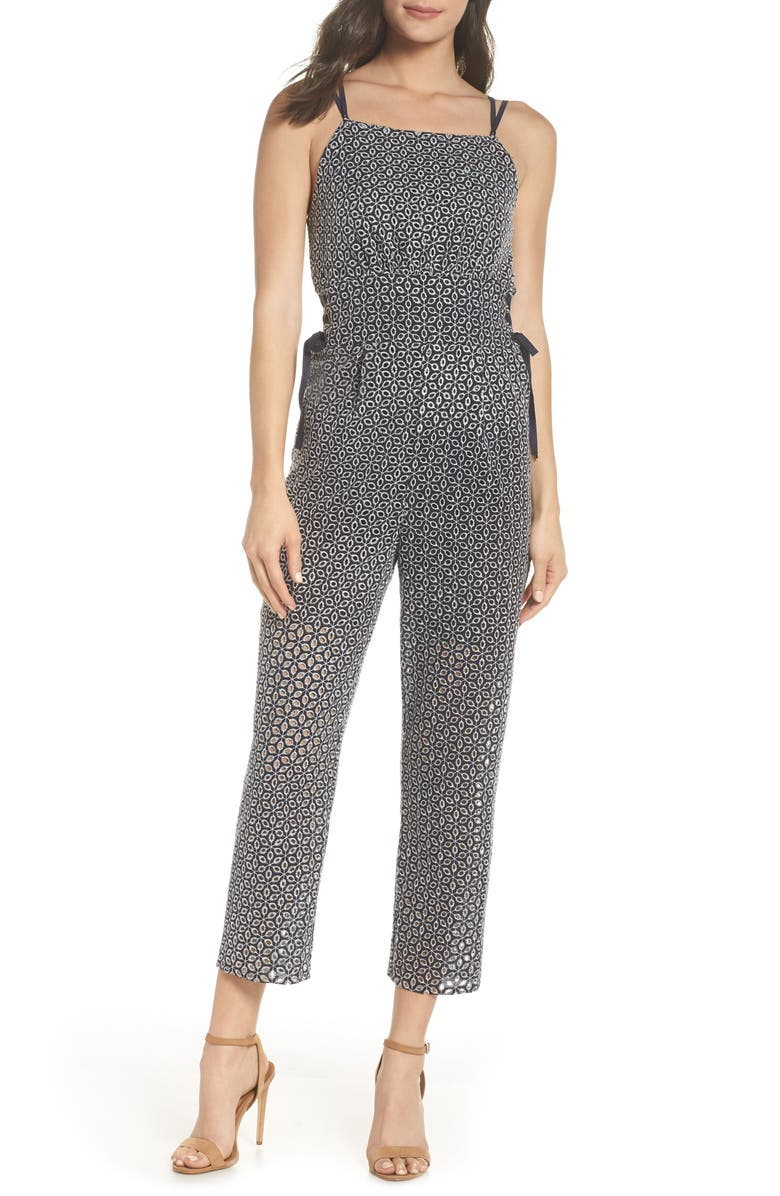 Embroidered Side Tie Jumpsuit