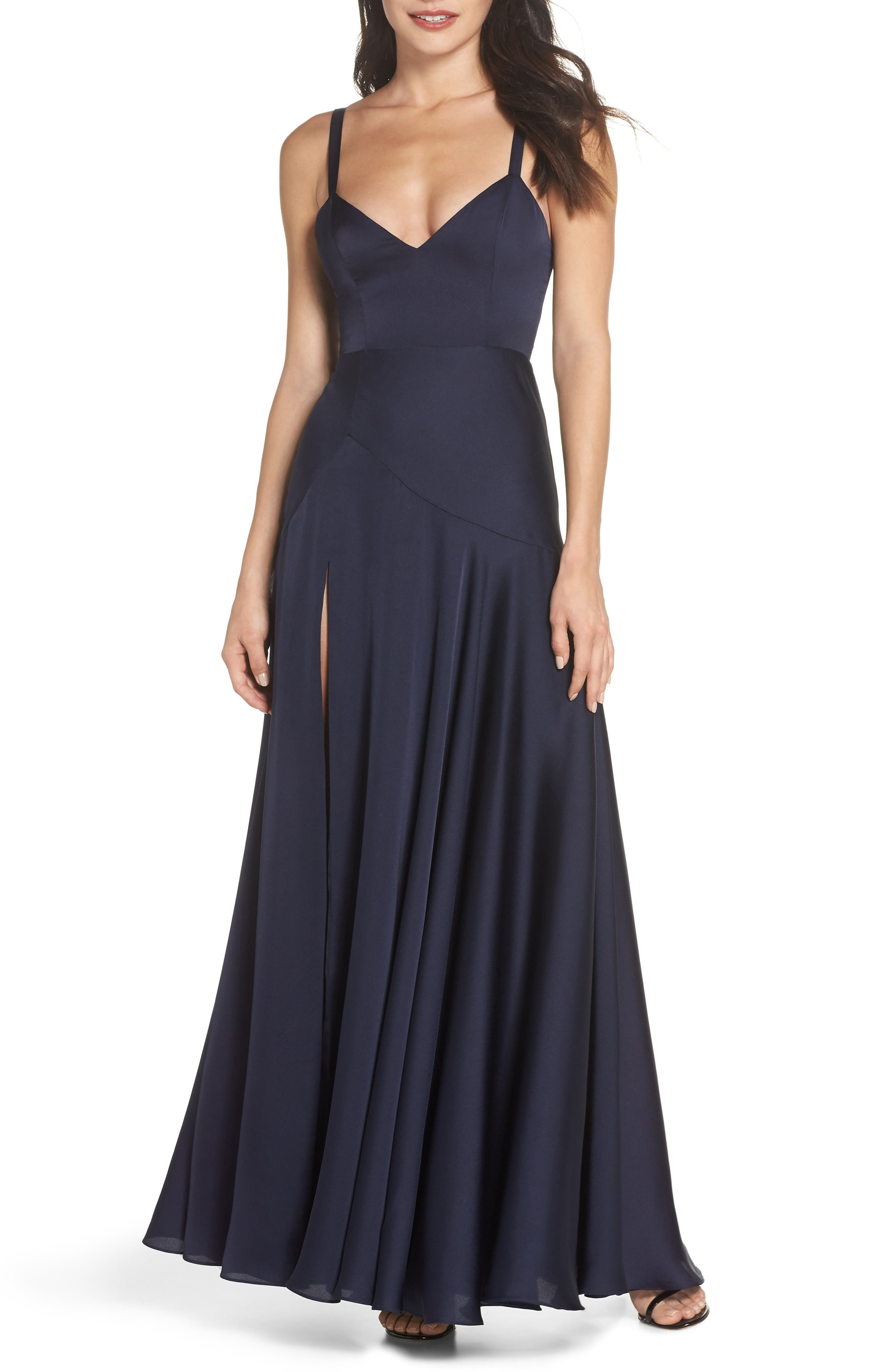 The Aubree Gown,                         Main,                         color, Navy
