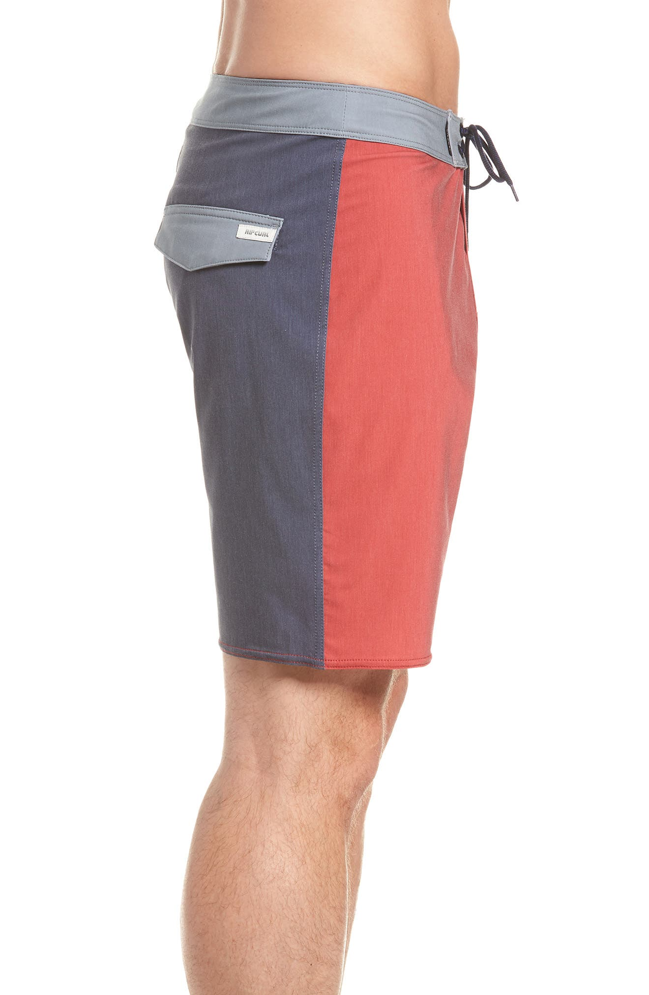 Mirage Owen Stretch Board Shorts,                             Alternate thumbnail 3, color,                             Red
