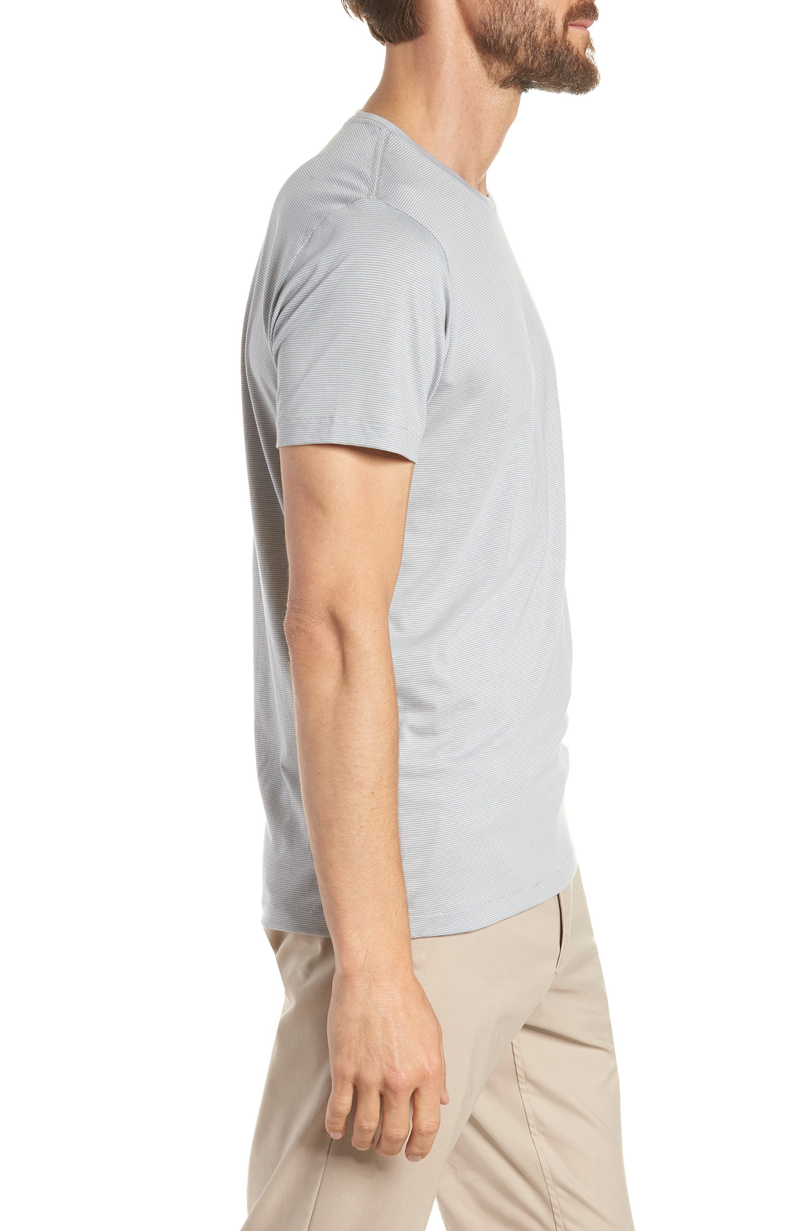 Refined Slim Fit T-Shirt,                             Alternate thumbnail 3, color,                             Echo Sterling