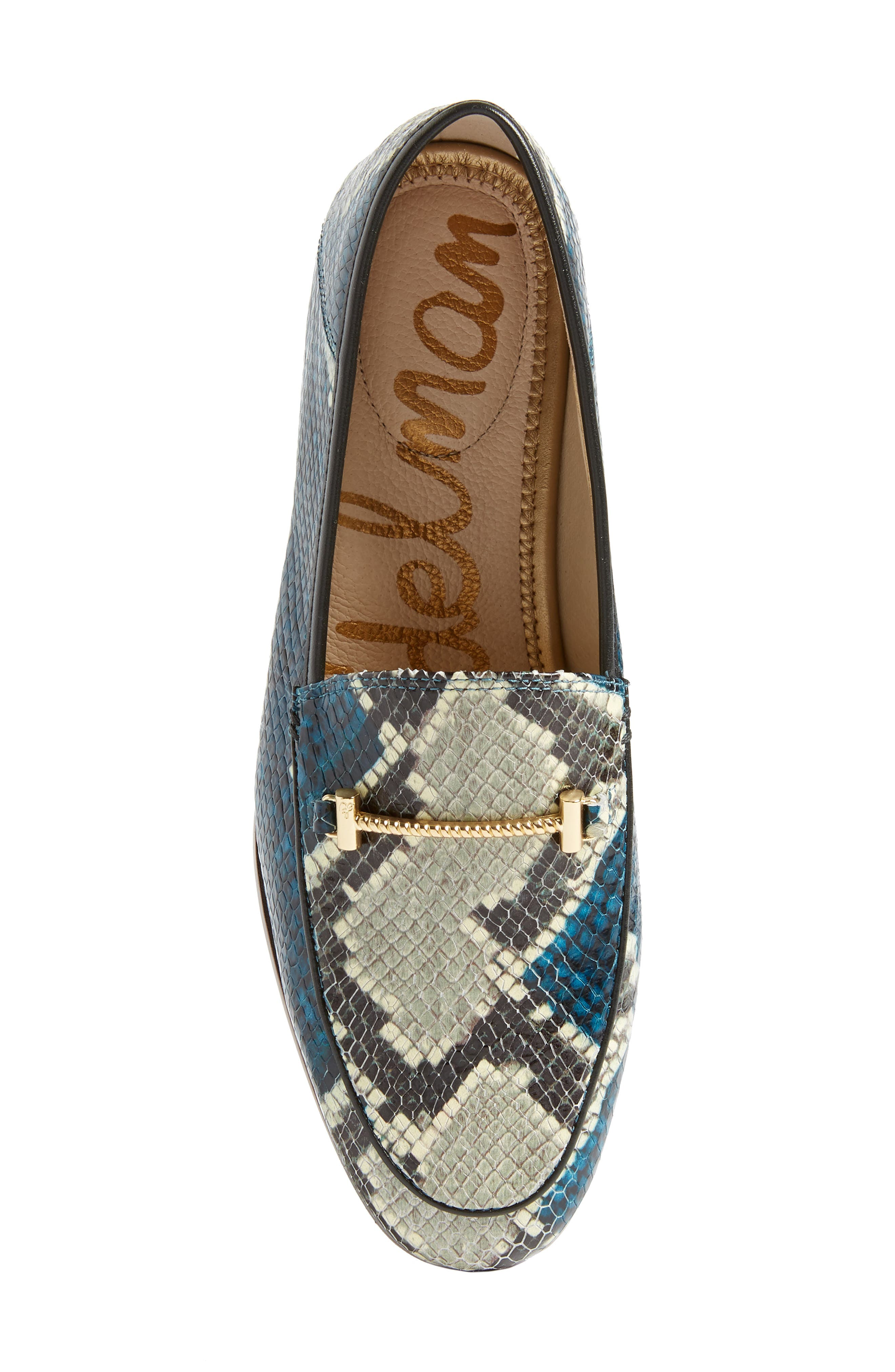 Lior Loafer,                             Alternate thumbnail 4, color,                             Peacock Blue Snake Print