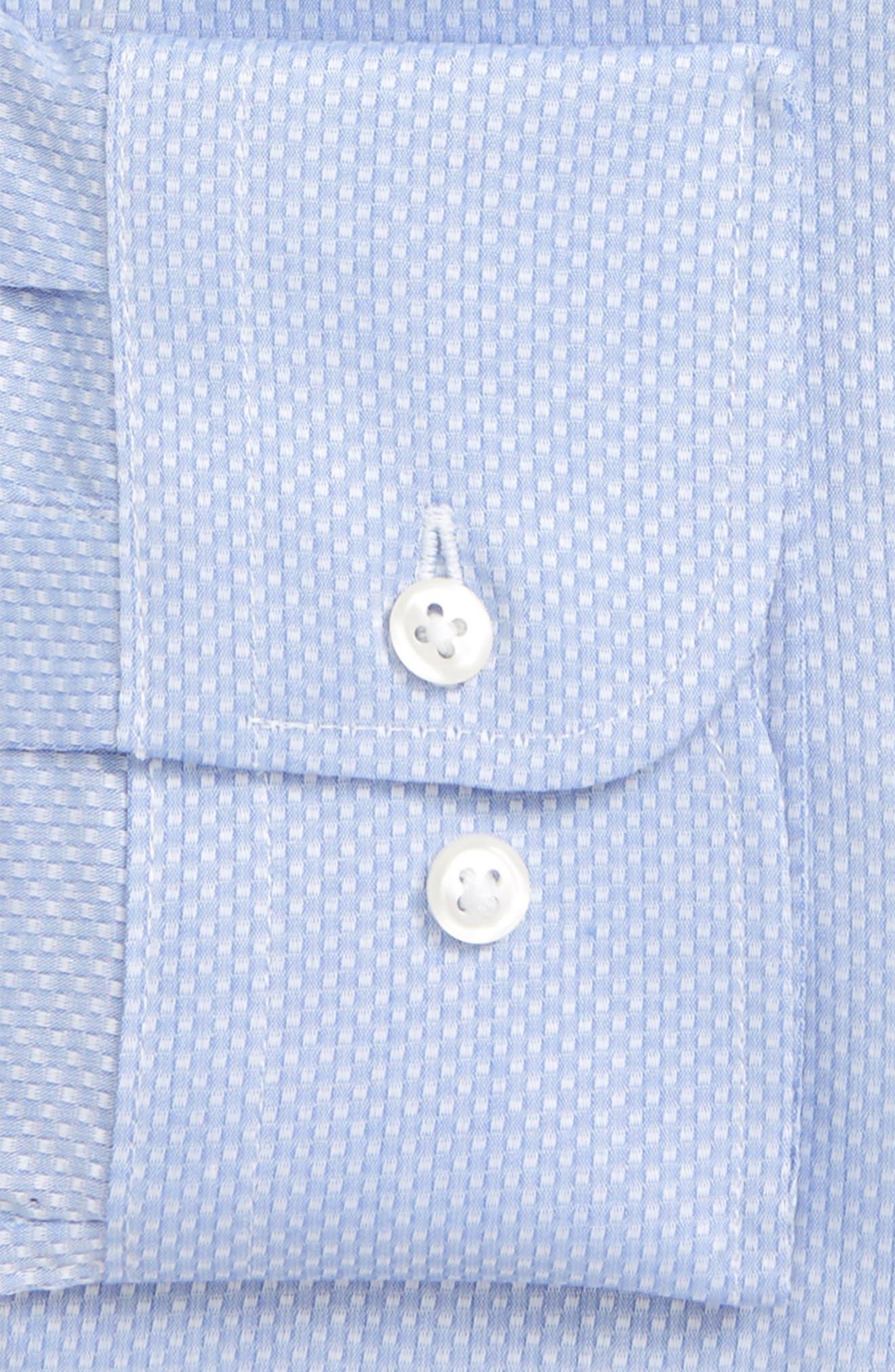 Trim Fit Solid Dress Shirt,                             Alternate thumbnail 5, color,                             Blue Azurite