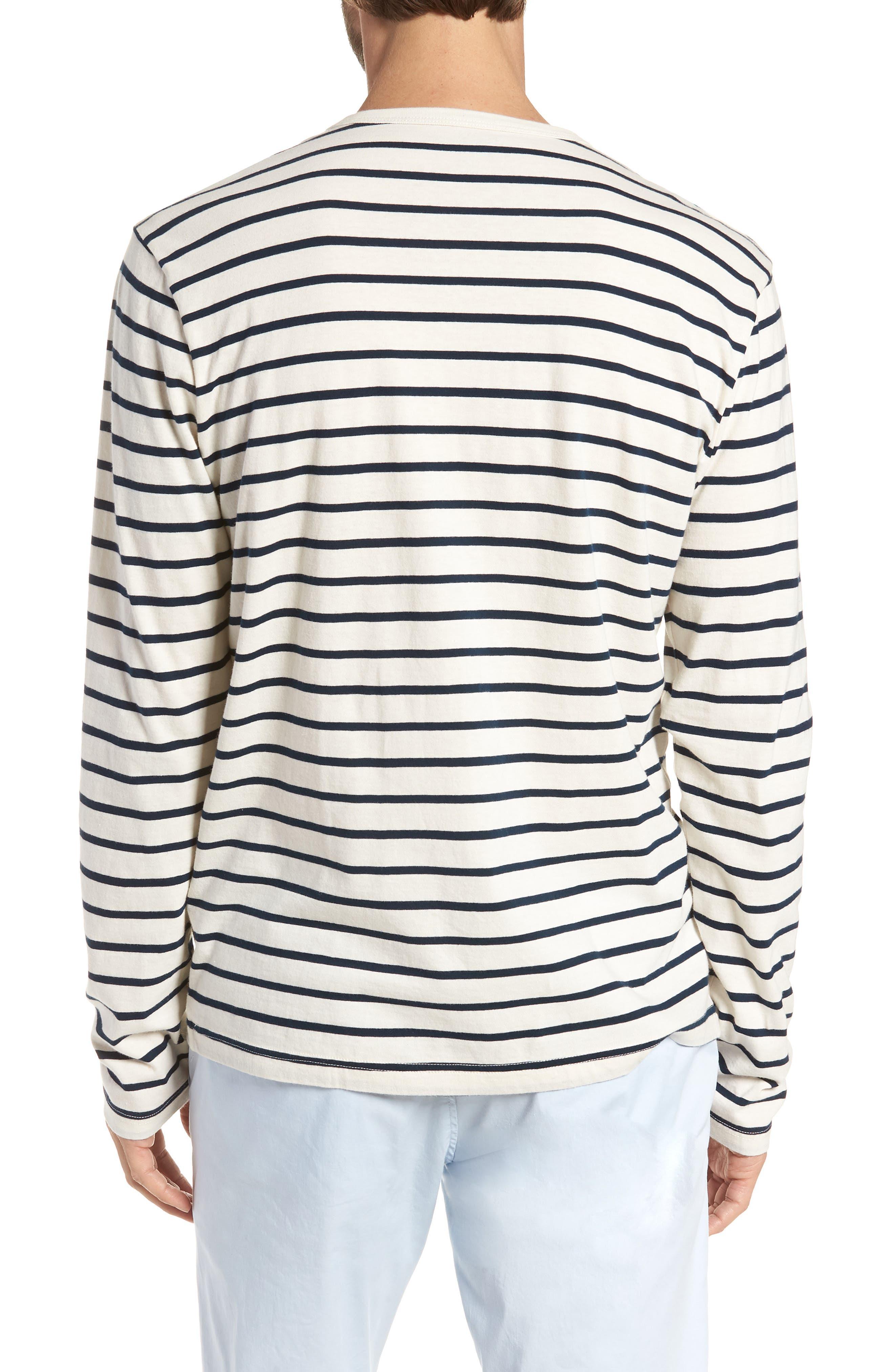 Mercantile Stripe Long Sleeve T-Shirt,                             Alternate thumbnail 2, color,                             Mountain White