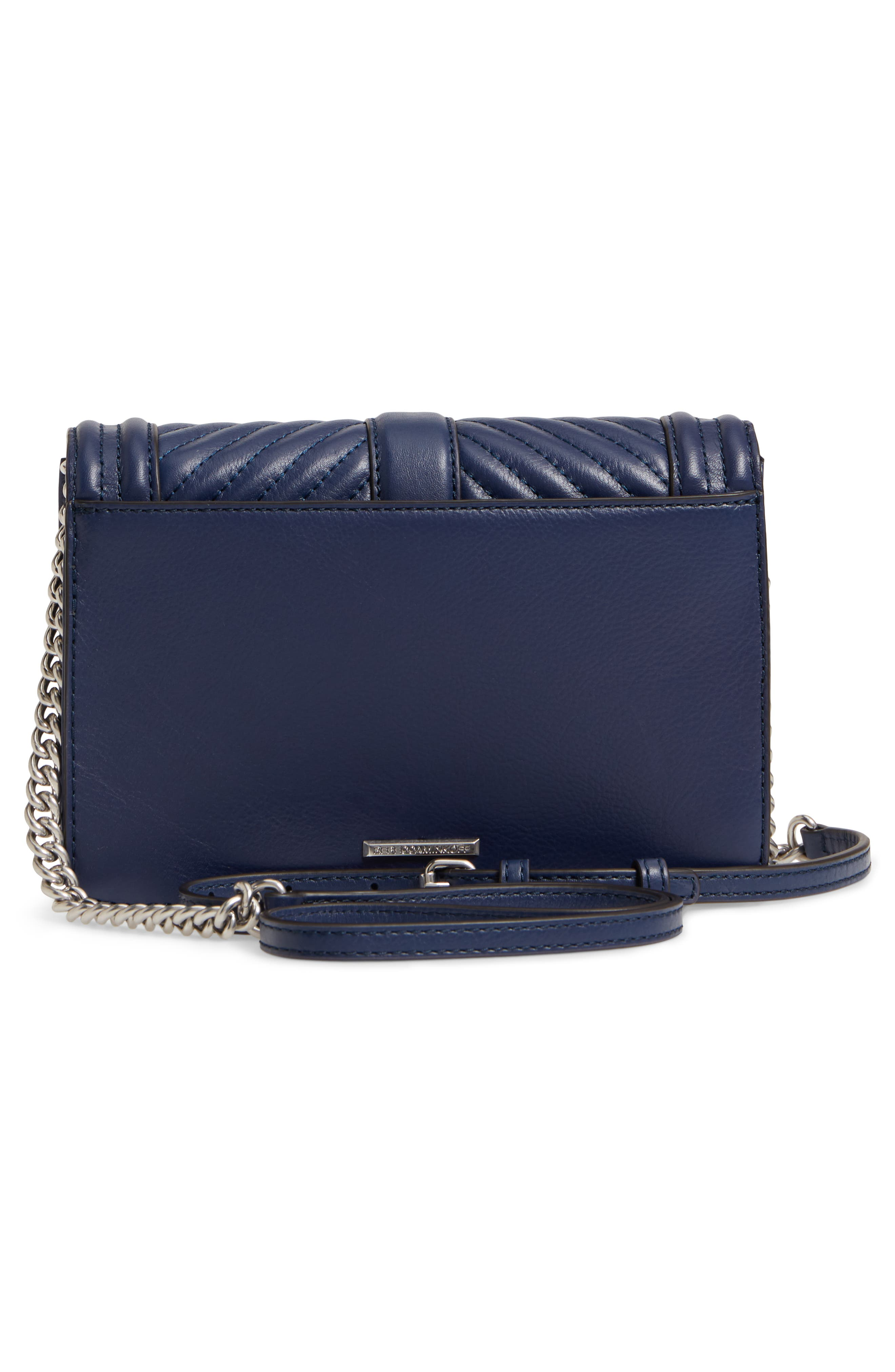 Small Love Leather Crossbody Bag,                             Alternate thumbnail 3, color,                             True Navy
