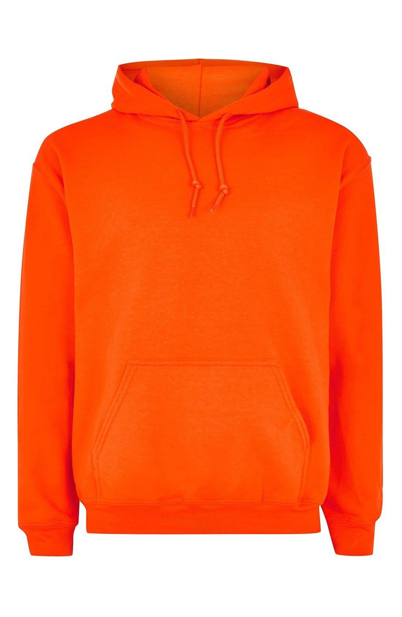 Classic Fit Gildan Pullover Hoodie,                             Alternate thumbnail 4, color,                             Orange