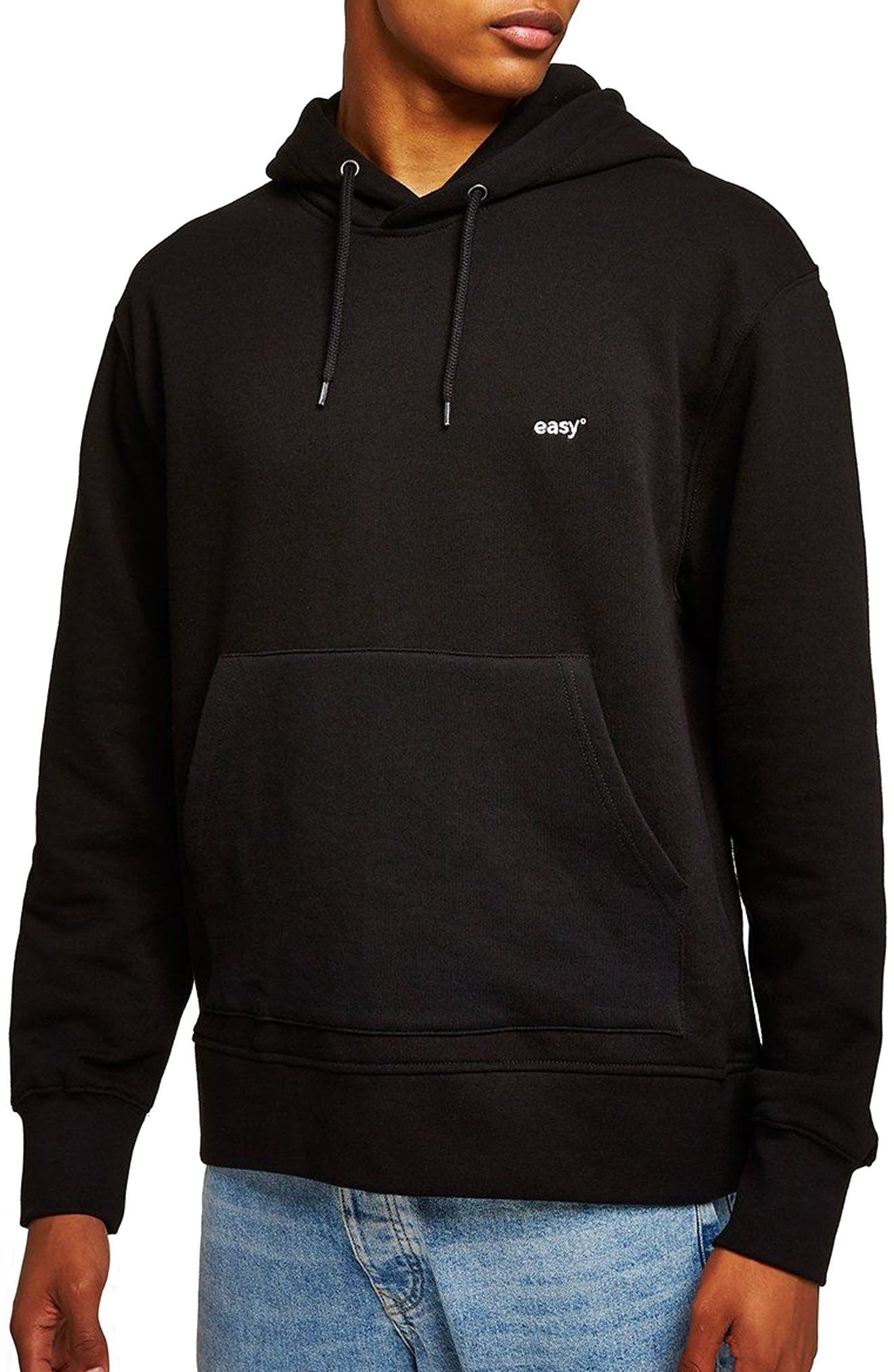 Classic Fit Tristan Easy Embroidered Hoodie,                         Main,                         color, Black Multi