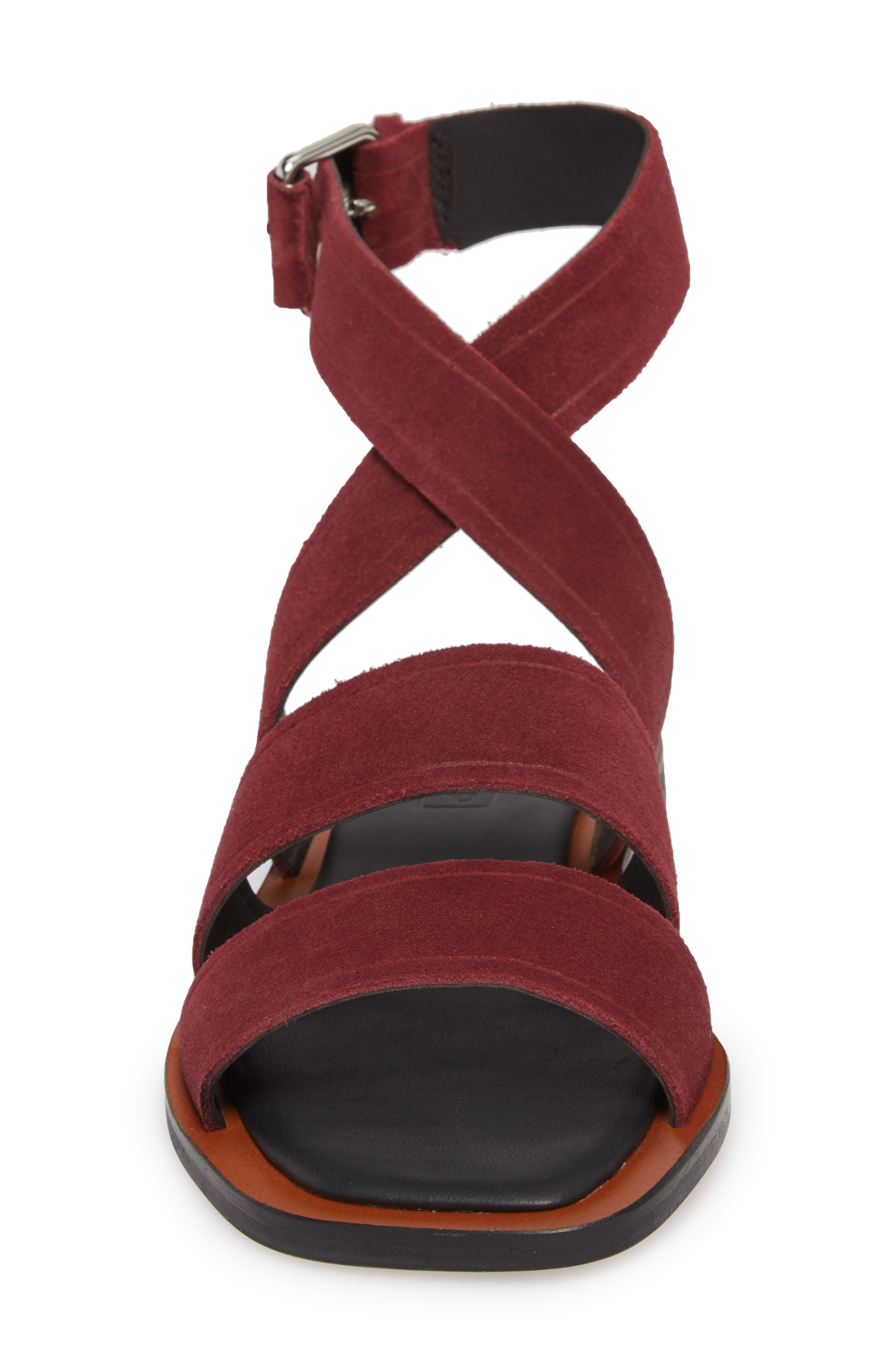 Fume Strappy Sandal,                             Alternate thumbnail 4, color,                             Burgundy Multi