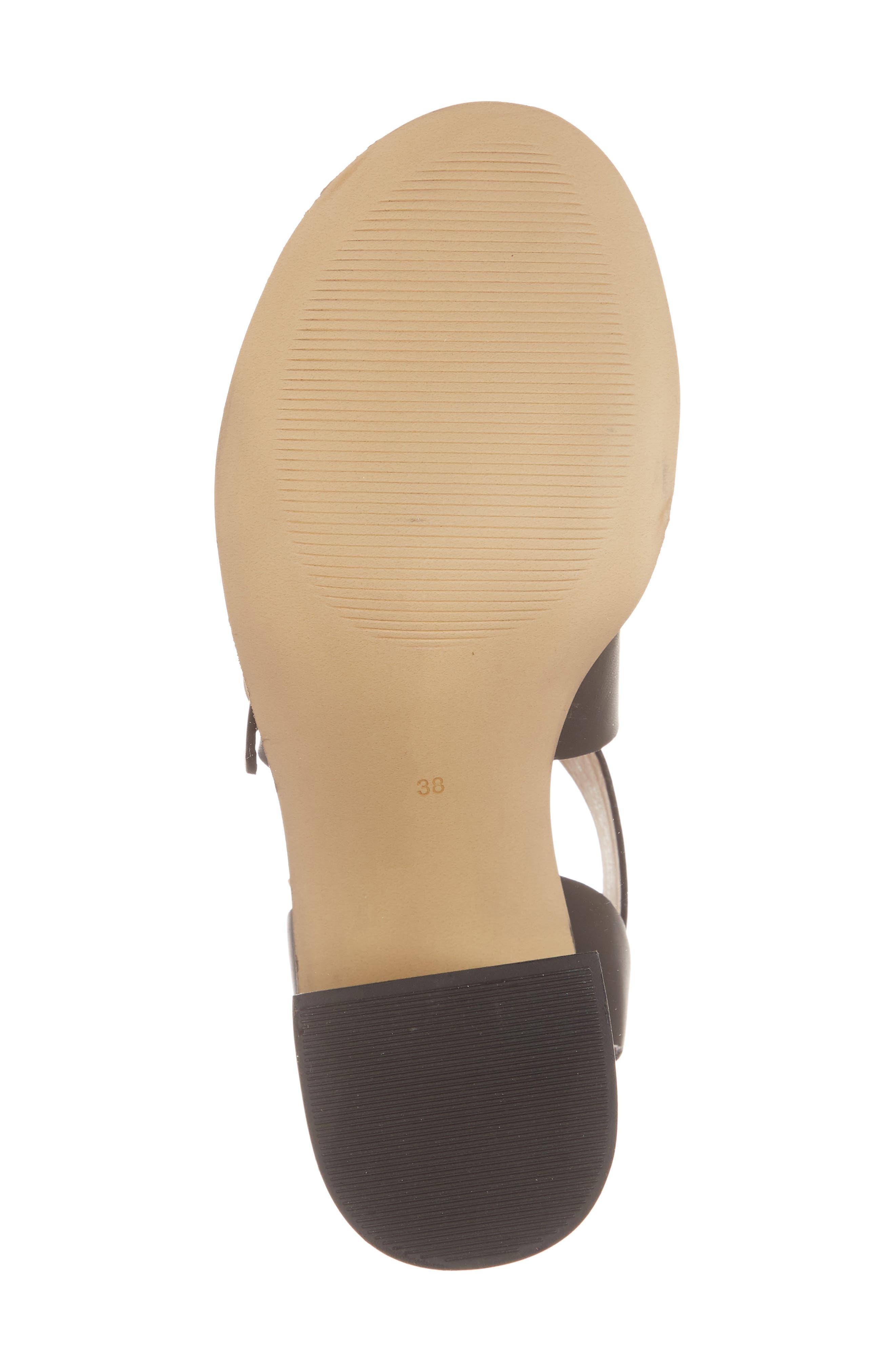 Natalie Buckled Cross Strap Sandal,                             Alternate thumbnail 6, color,                             Black Multi