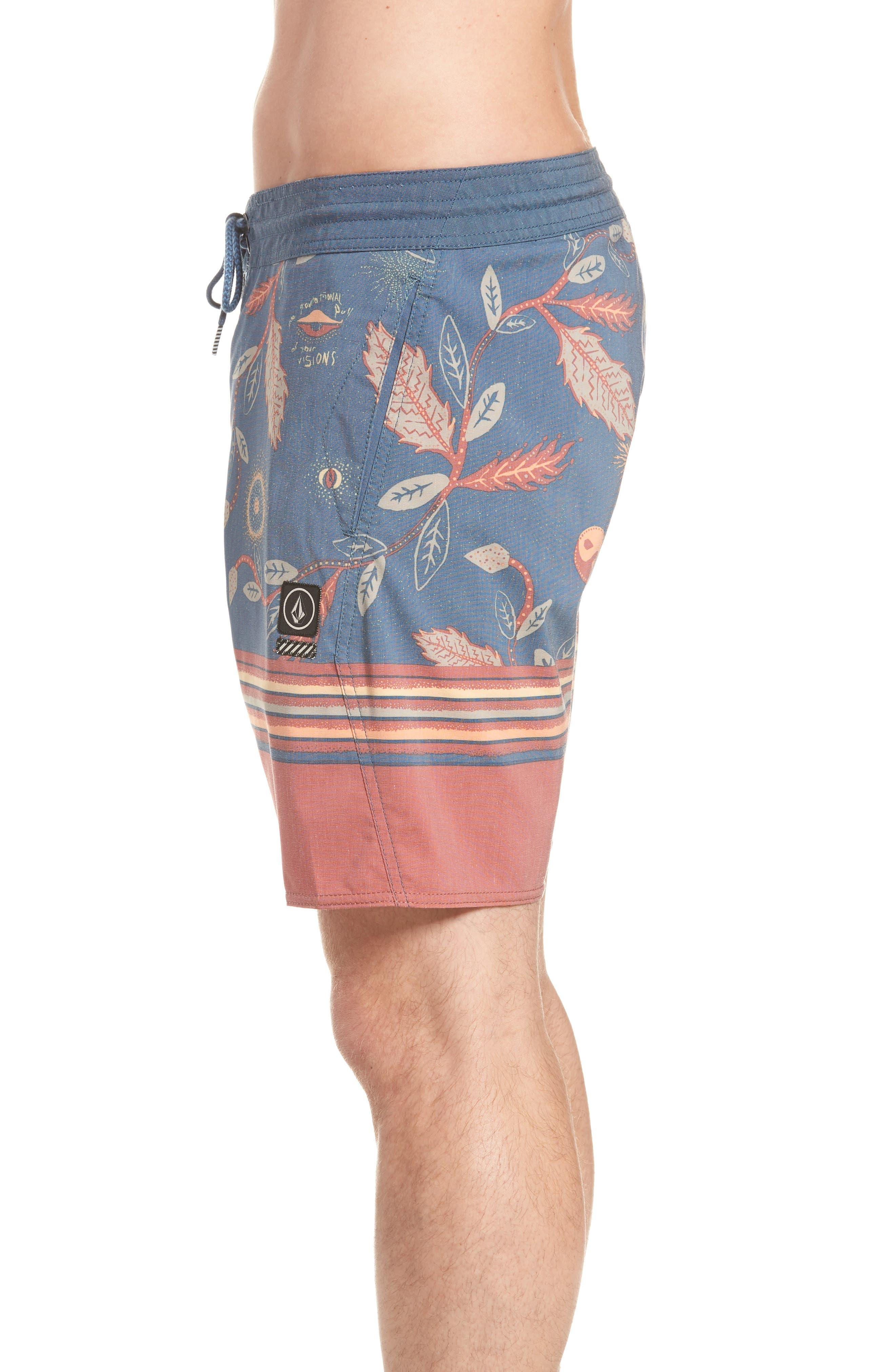 Lucid Stoney Board Shorts,                             Alternate thumbnail 3, color,                             Deep Blue