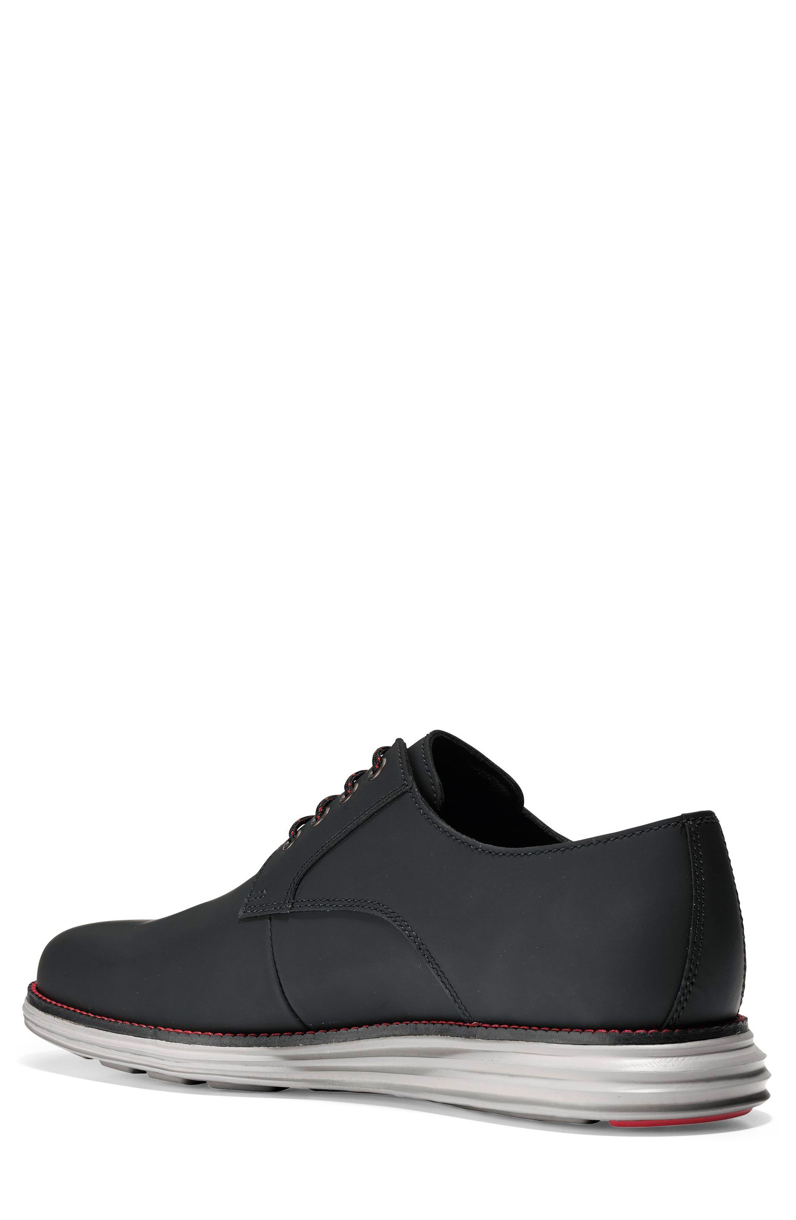 Original Grand Plain Toe Derby,                             Alternate thumbnail 2, color,                             Black Matte Leather