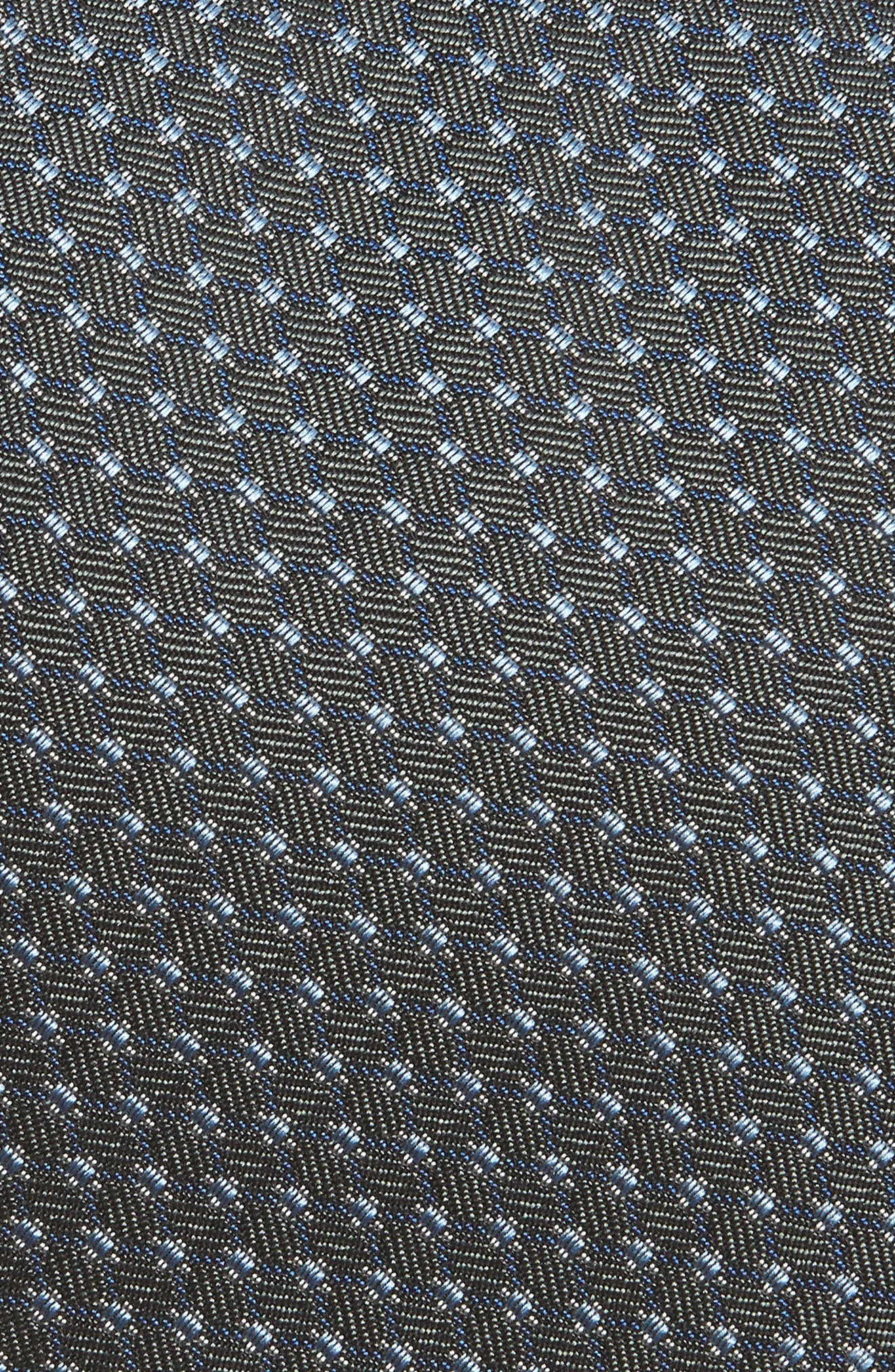 Neat Silk Tie,                             Alternate thumbnail 2, color,                             Charcoal