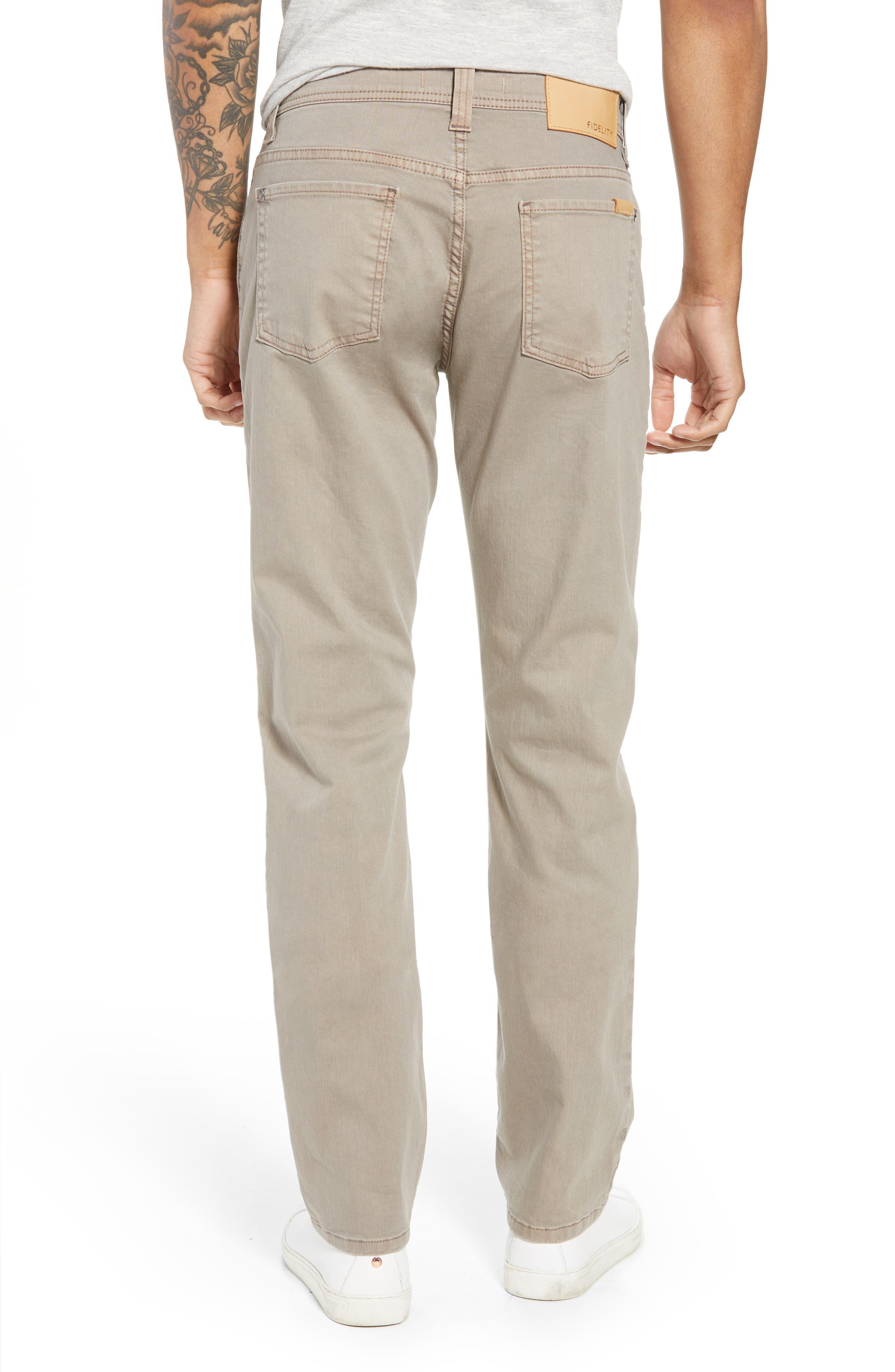 Jimmy Slim Straight Leg Jeans,                             Alternate thumbnail 2, color,                             Khaki