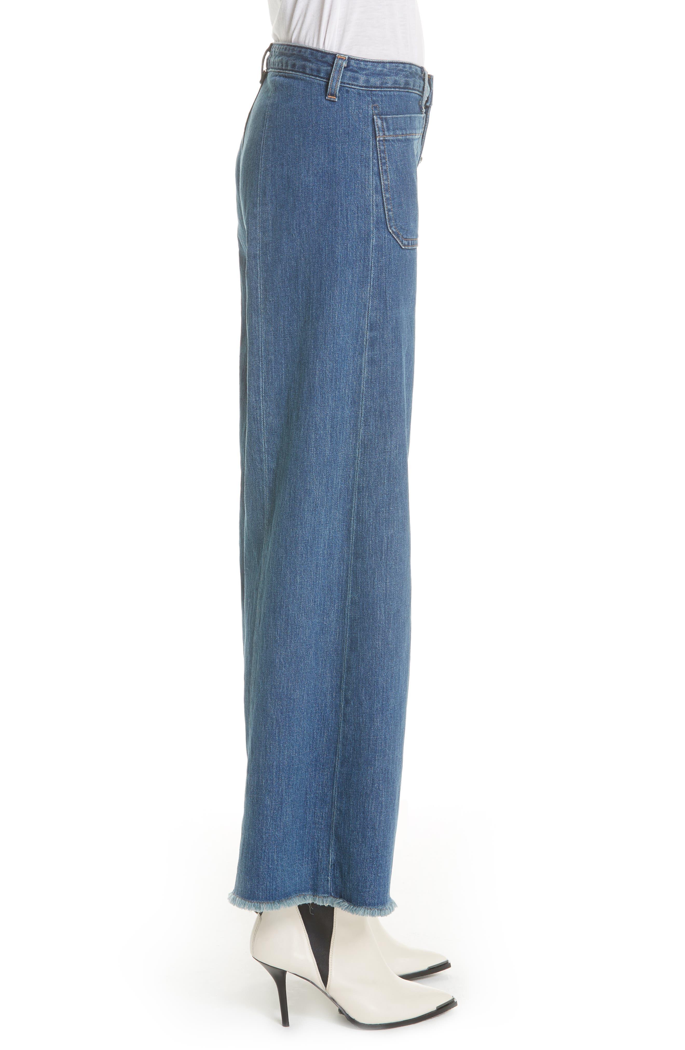 Carmine Wide Leg Jeans,                             Alternate thumbnail 3, color,                             Medium Denim