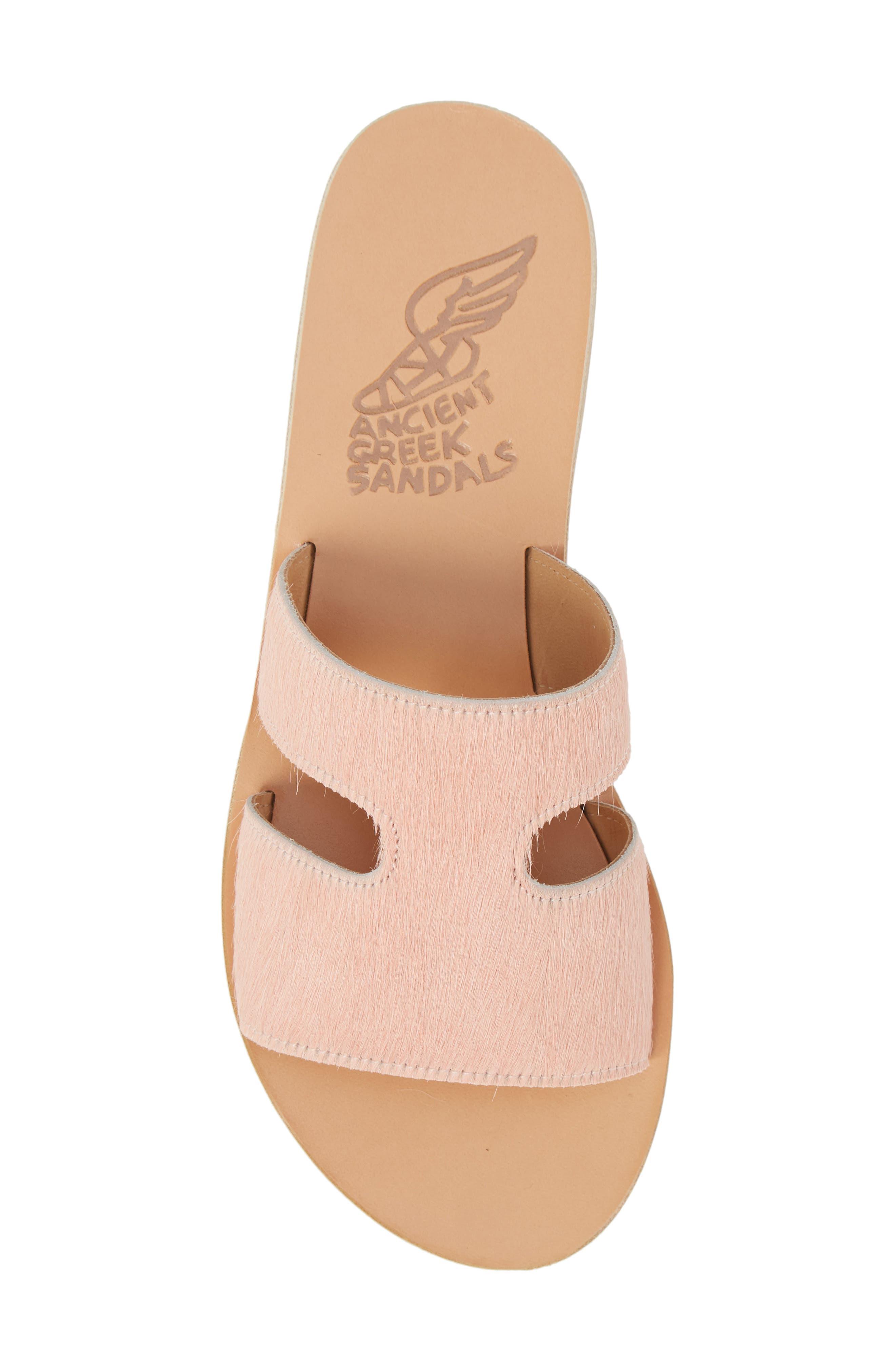 Apteros Genuine Calf Hair Slide Sandal,                             Alternate thumbnail 5, color,                             Pink Pony