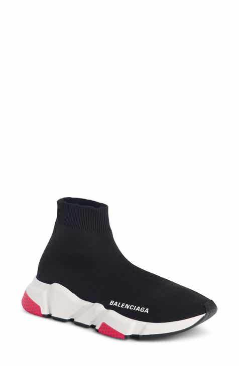 Balenciaga Mid Speed Trainer Sock Sneaker (Women) 9f53bce197