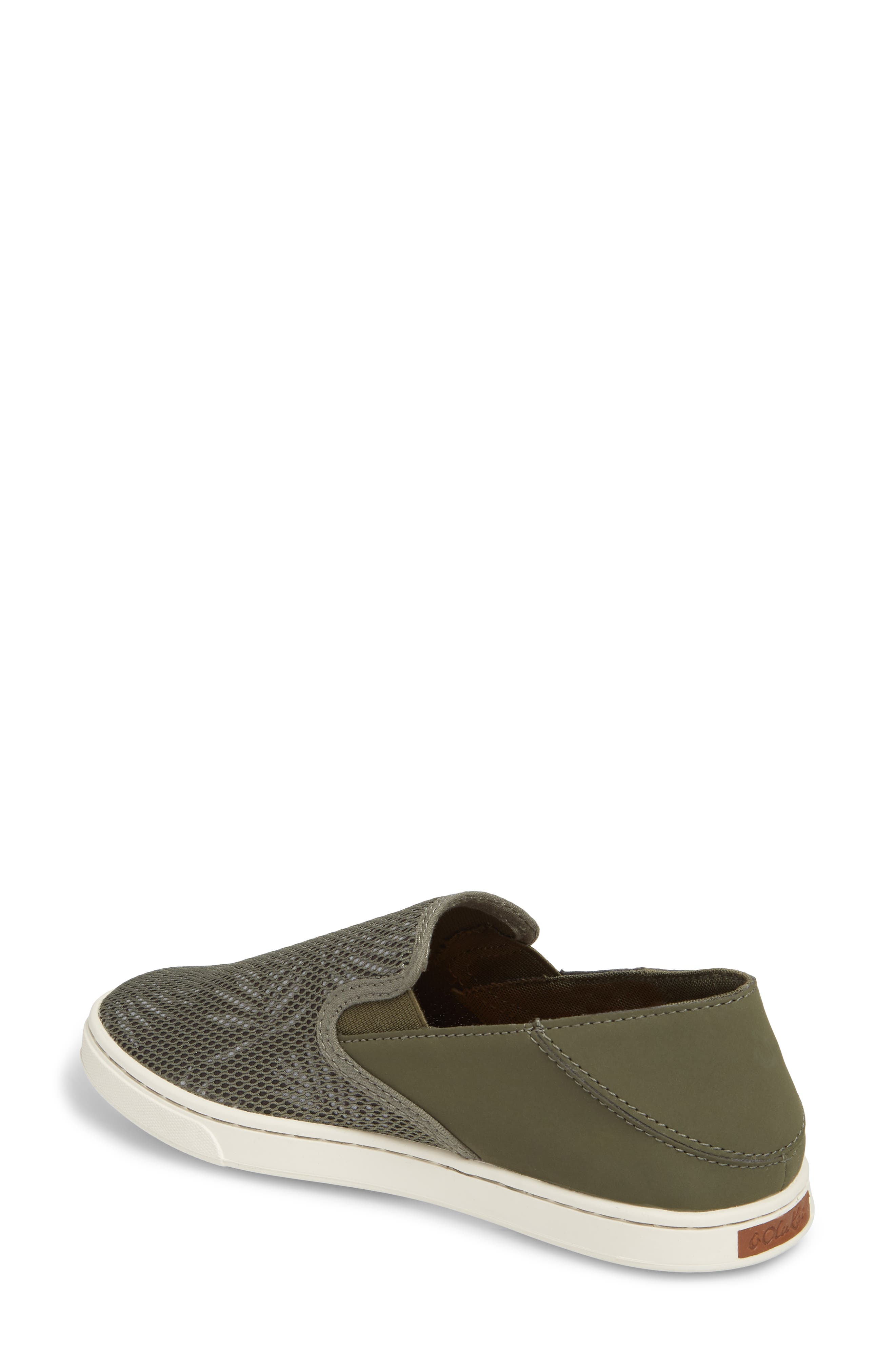 'Pehuea' Slip-On Sneaker,                             Alternate thumbnail 2, color,                             Dusty Olive/ Palm Fabric