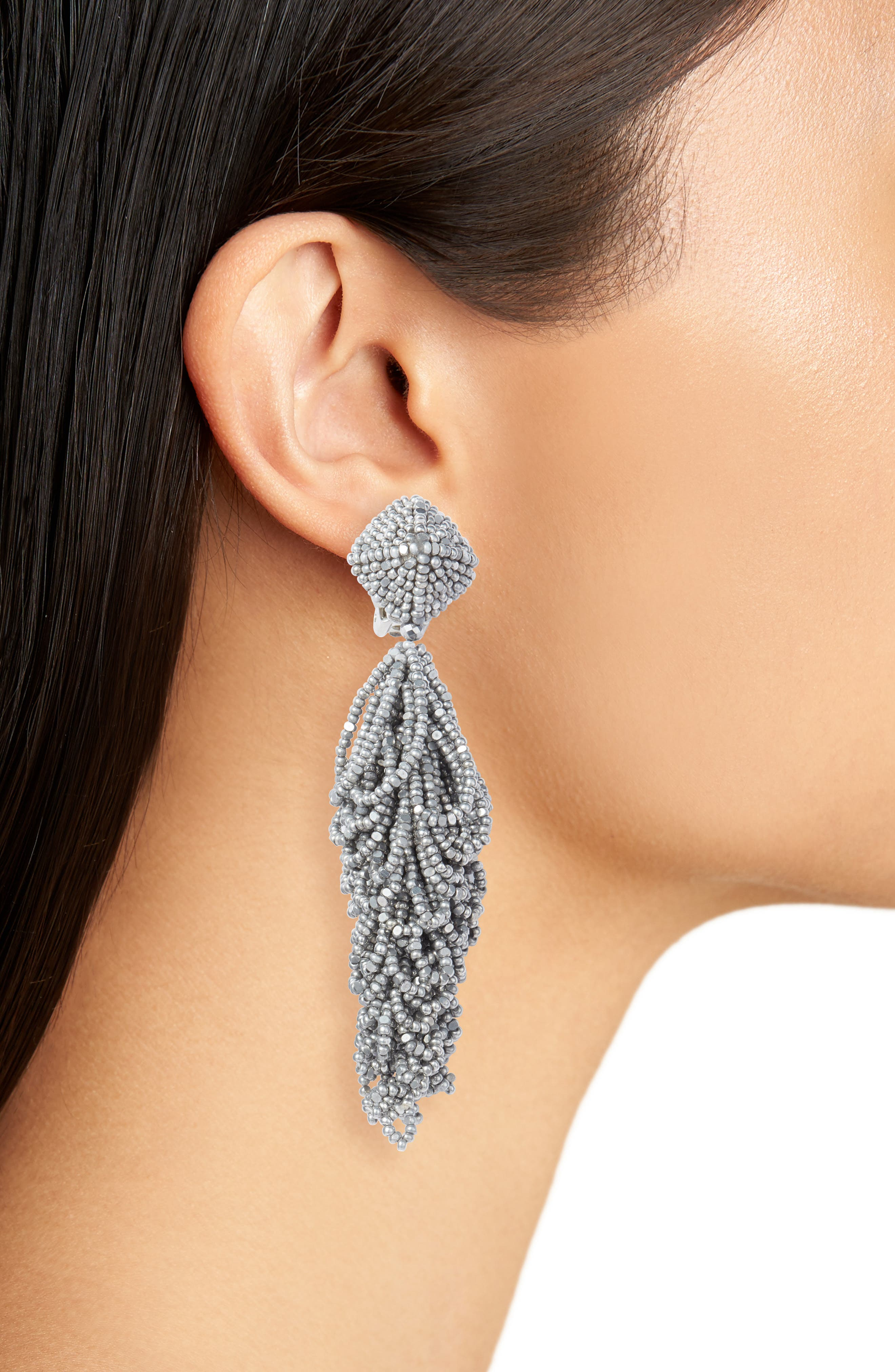 Lulus Earrings,                             Alternate thumbnail 2, color,                             Silver