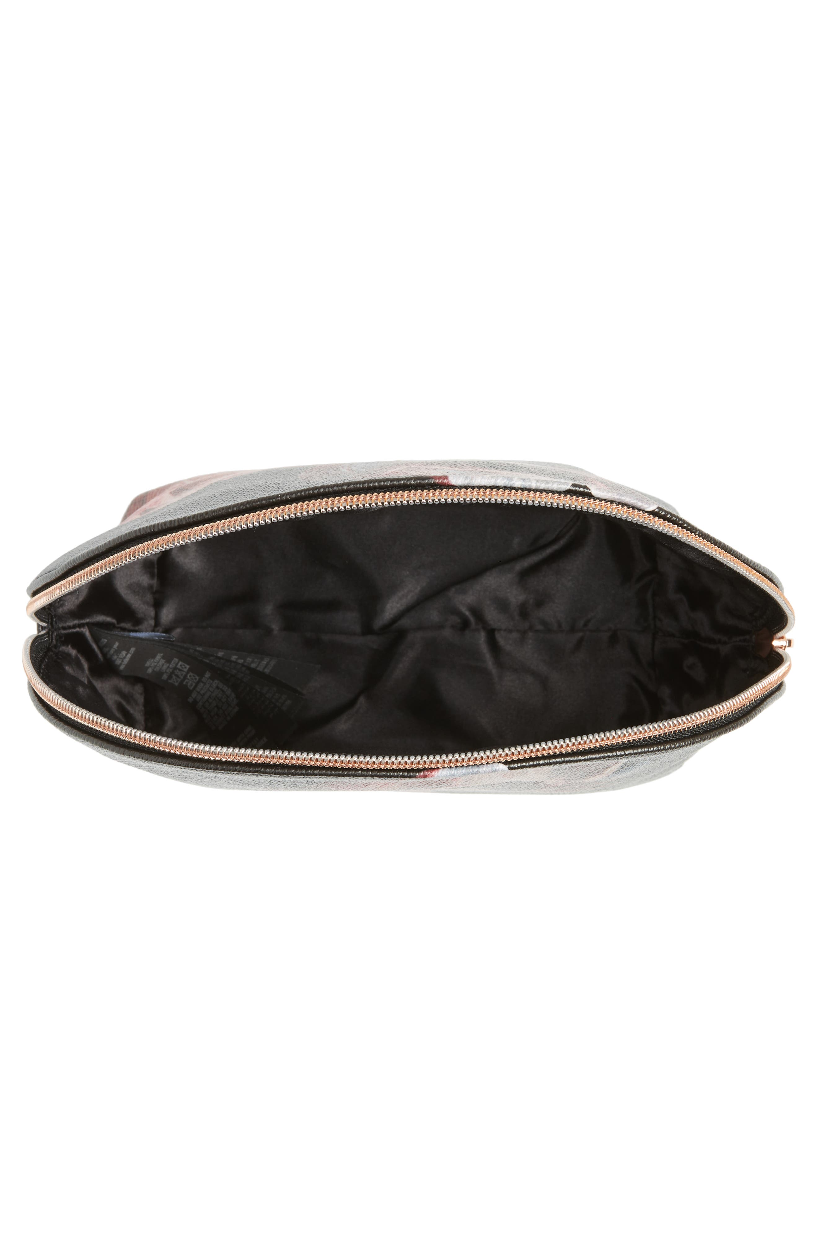 Tranquility Cosmetics Case,                             Alternate thumbnail 3, color,                             Black