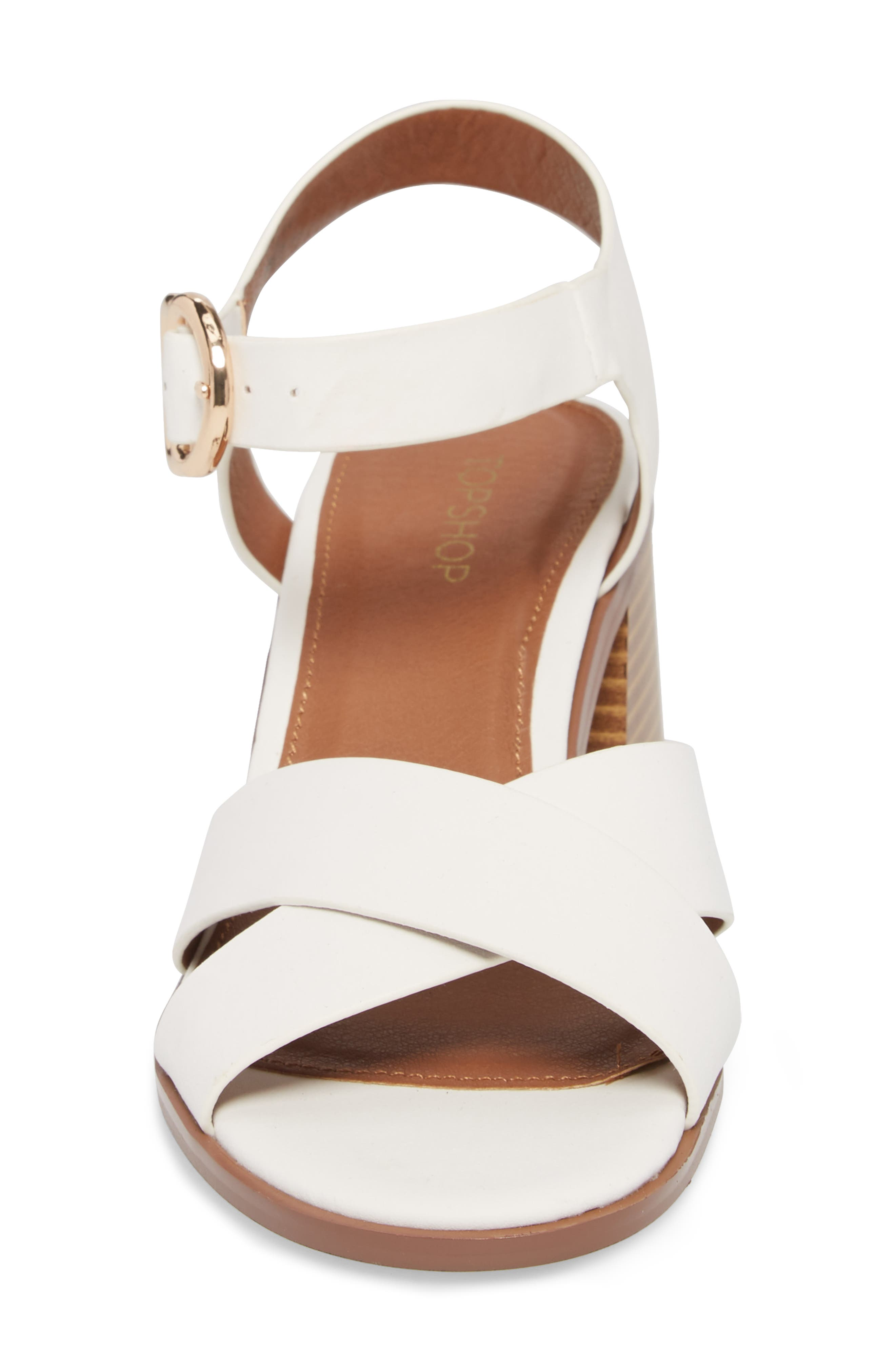 Dee Dee Block Heel Sandal,                             Alternate thumbnail 4, color,                             White Multi