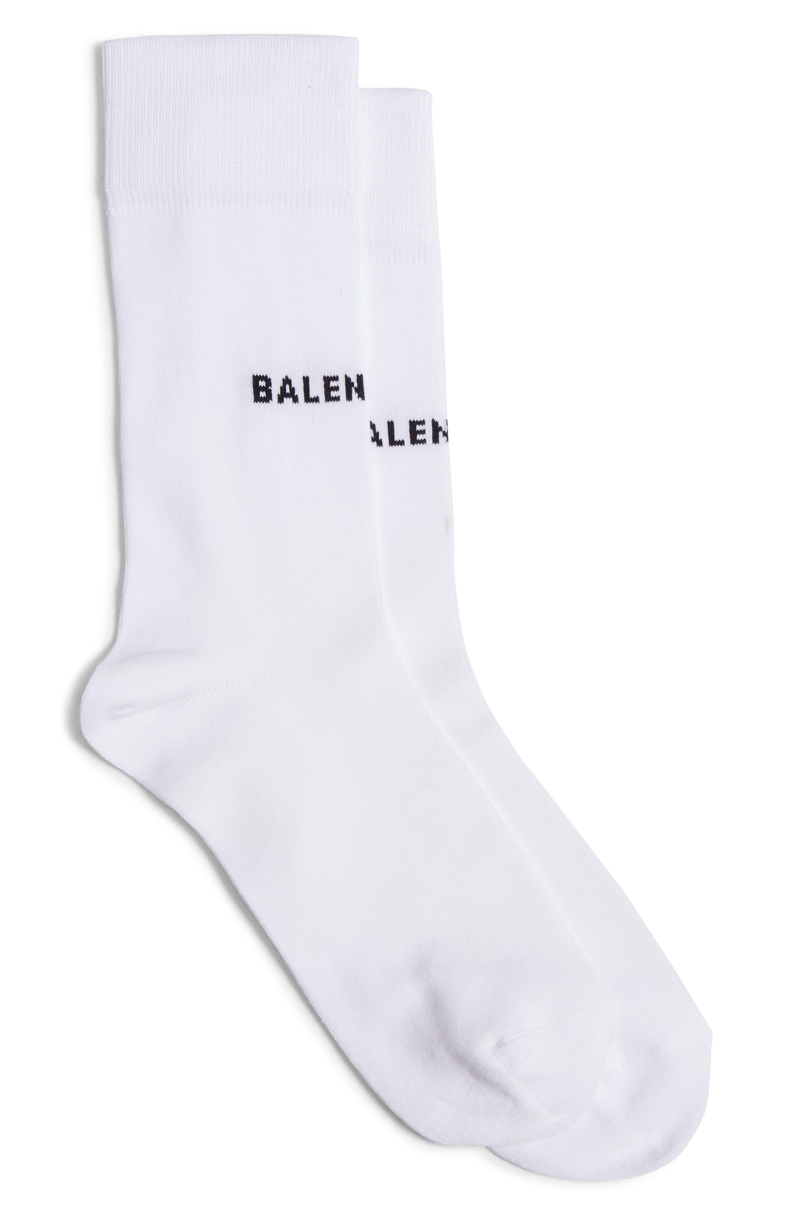 BALENICAGA LOGO CREW SOCKS