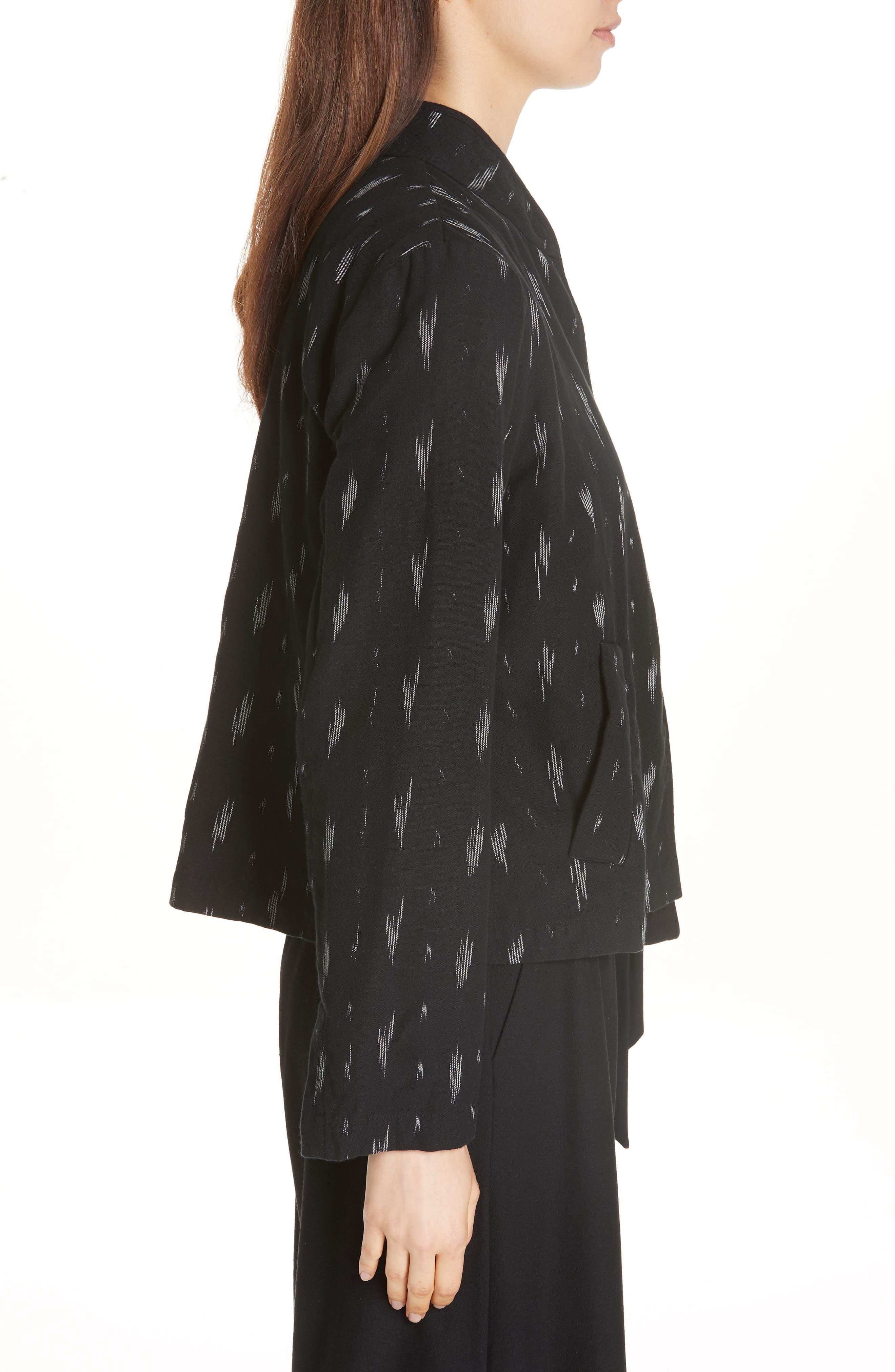 Organic Cotton Jacket,                             Alternate thumbnail 5, color,                             Black