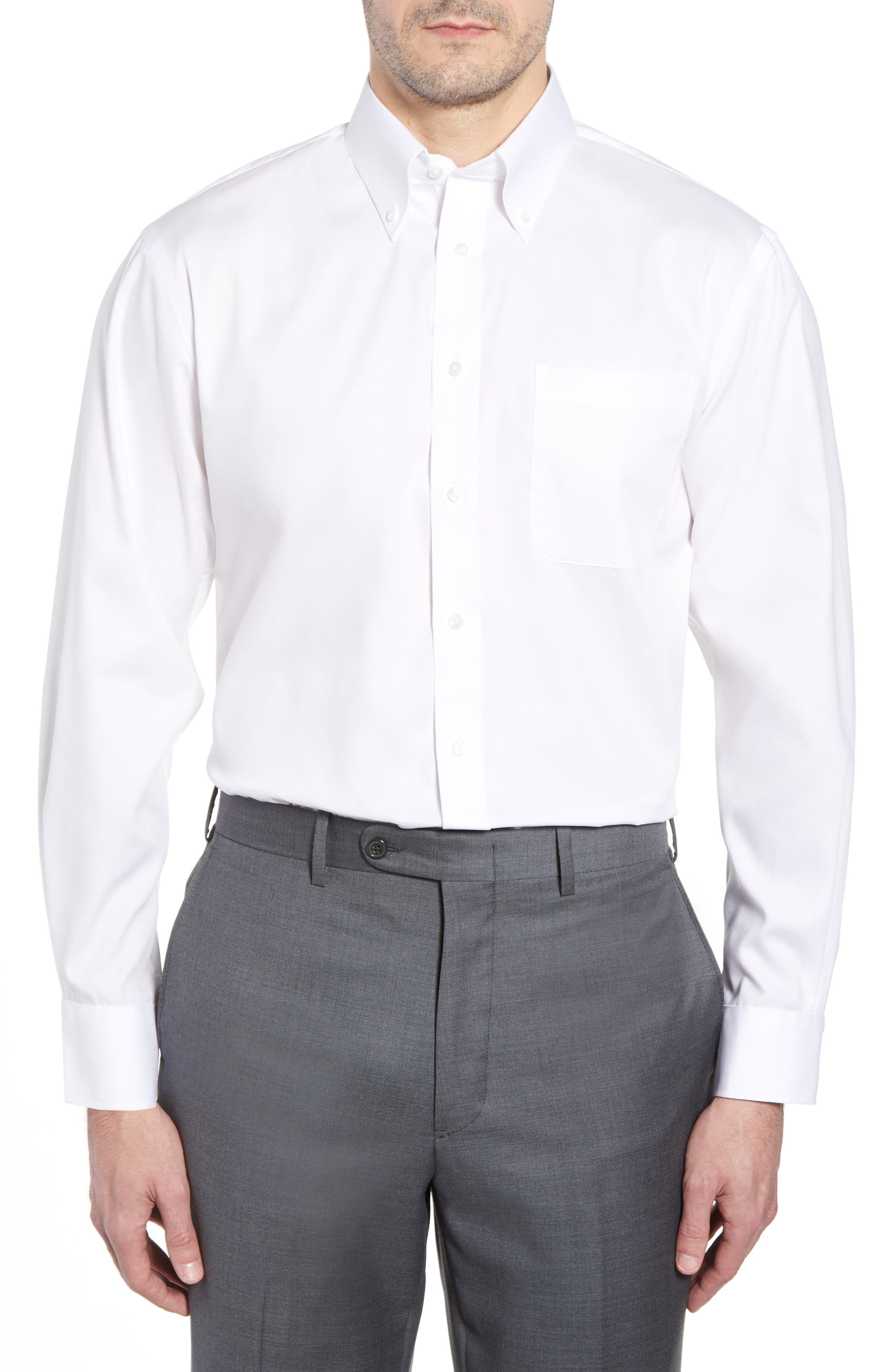 Grey and White Men's Dress Shirts