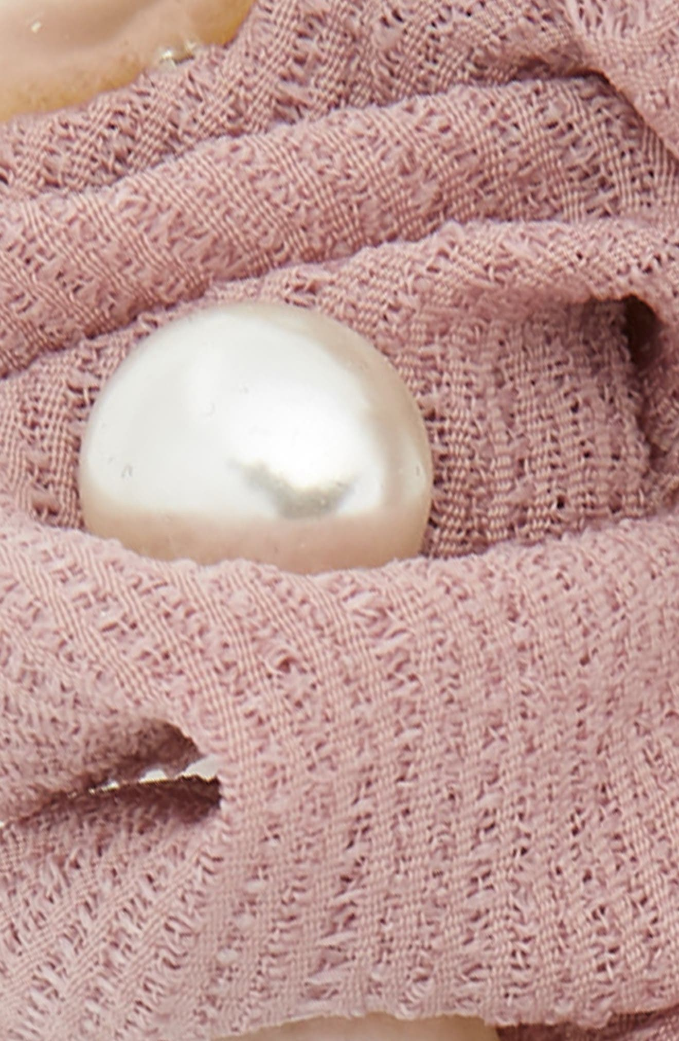 2-Pack Imitation Pearl Scrunchies,                             Alternate thumbnail 3, color,                             Black/ Pink