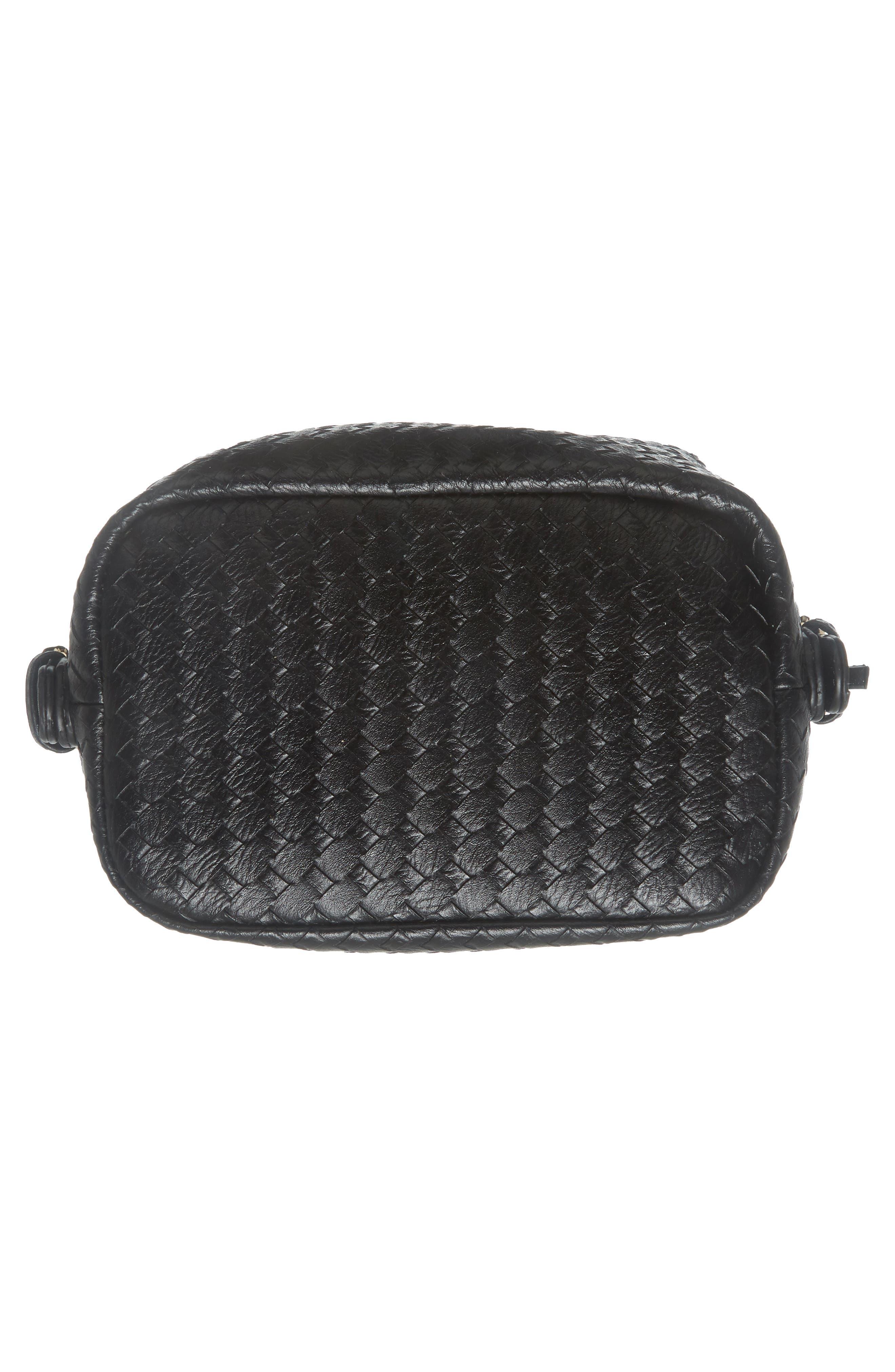 Patrice Woven Faux Leather Mini Satchel,                             Alternate thumbnail 6, color,                             Black