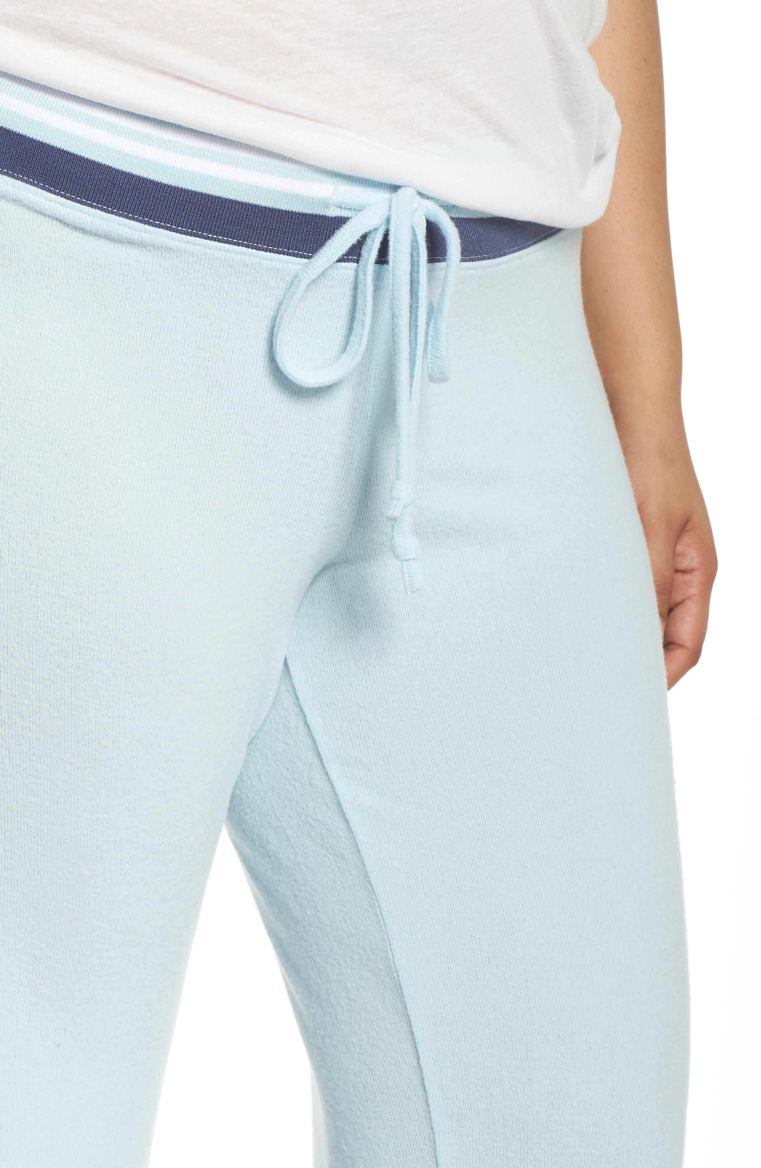 'Best Boyfriend' Brushed Hacci Lounge Pants,                             Alternate thumbnail 5, color,                             Blue Omphalodes