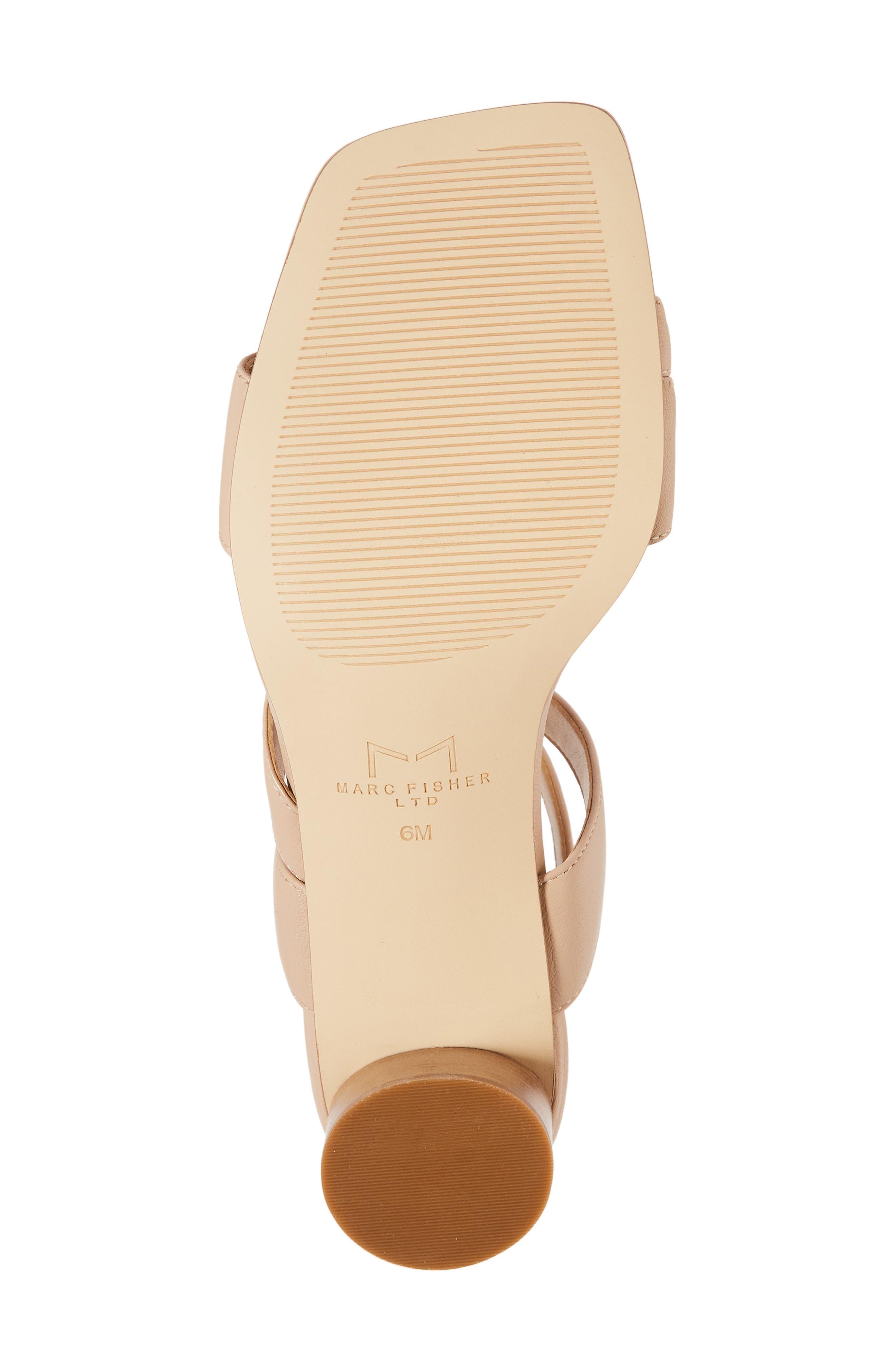 Marc Fischer LTD Idana Strappy Sandal,                             Alternate thumbnail 6, color,                             Lite Latte Leather