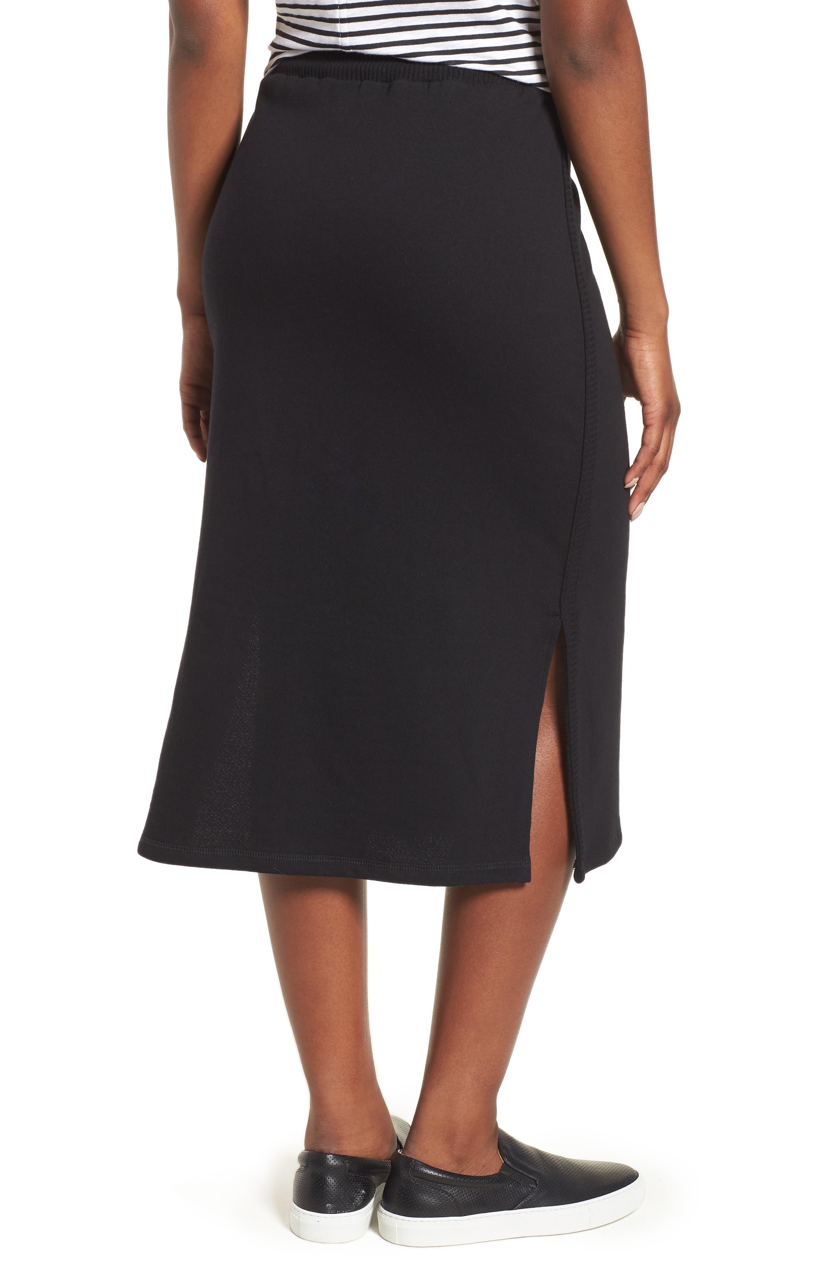 Off-Duty Drawstring Skirt,                             Alternate thumbnail 2, color,                             Black