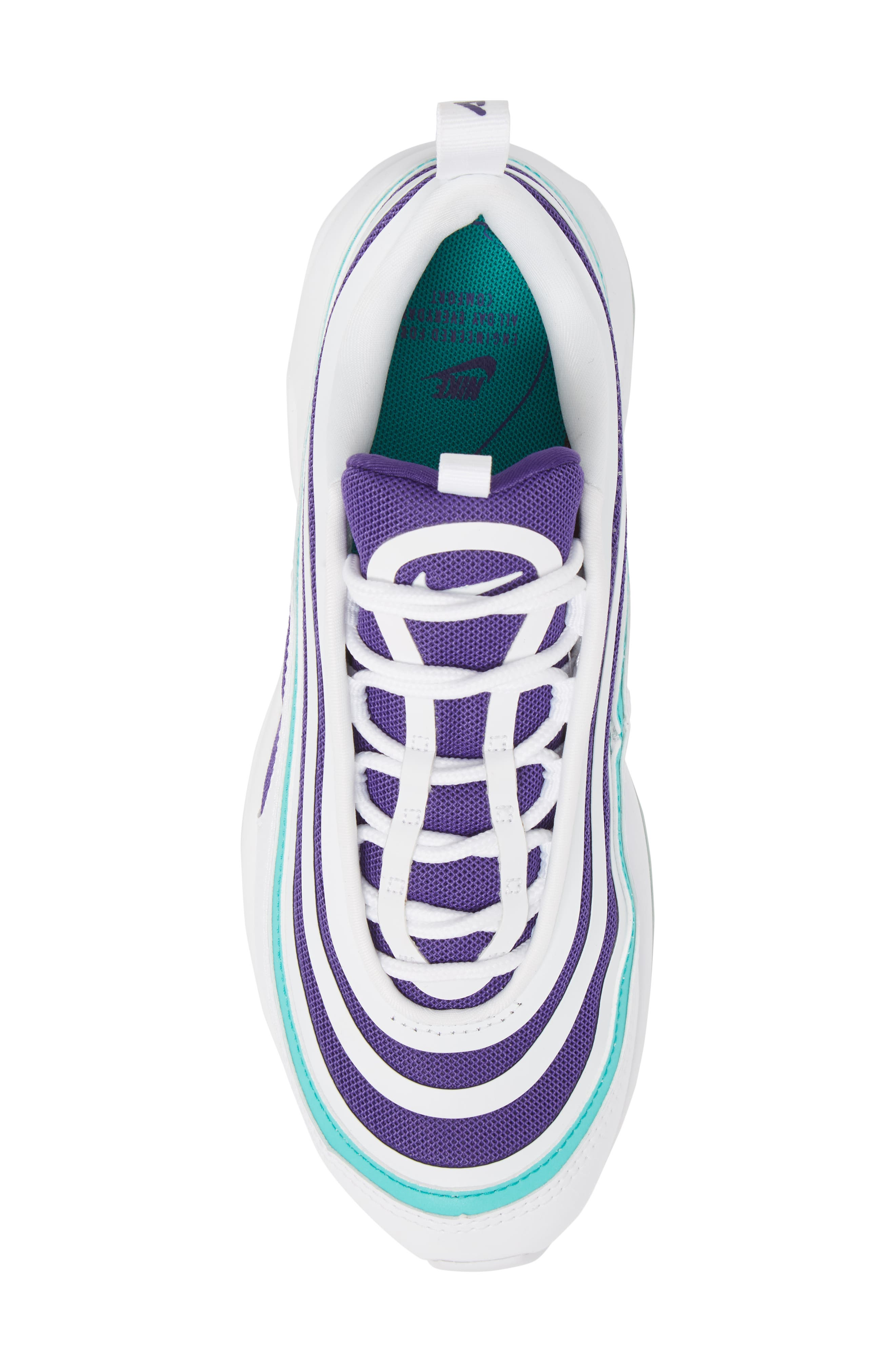 Air Max 97 Ultra '17 SE Sneaker,                             Alternate thumbnail 5, color,                             White/ White/ Court Purple