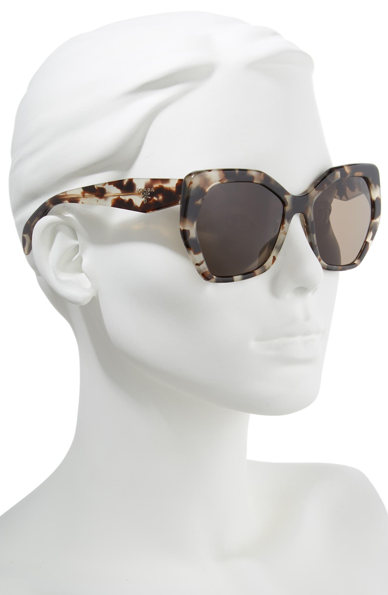 Heritage 56mm Sunglasses,                             Alternate thumbnail 2, color,                             Spotted Opal Brown Solid