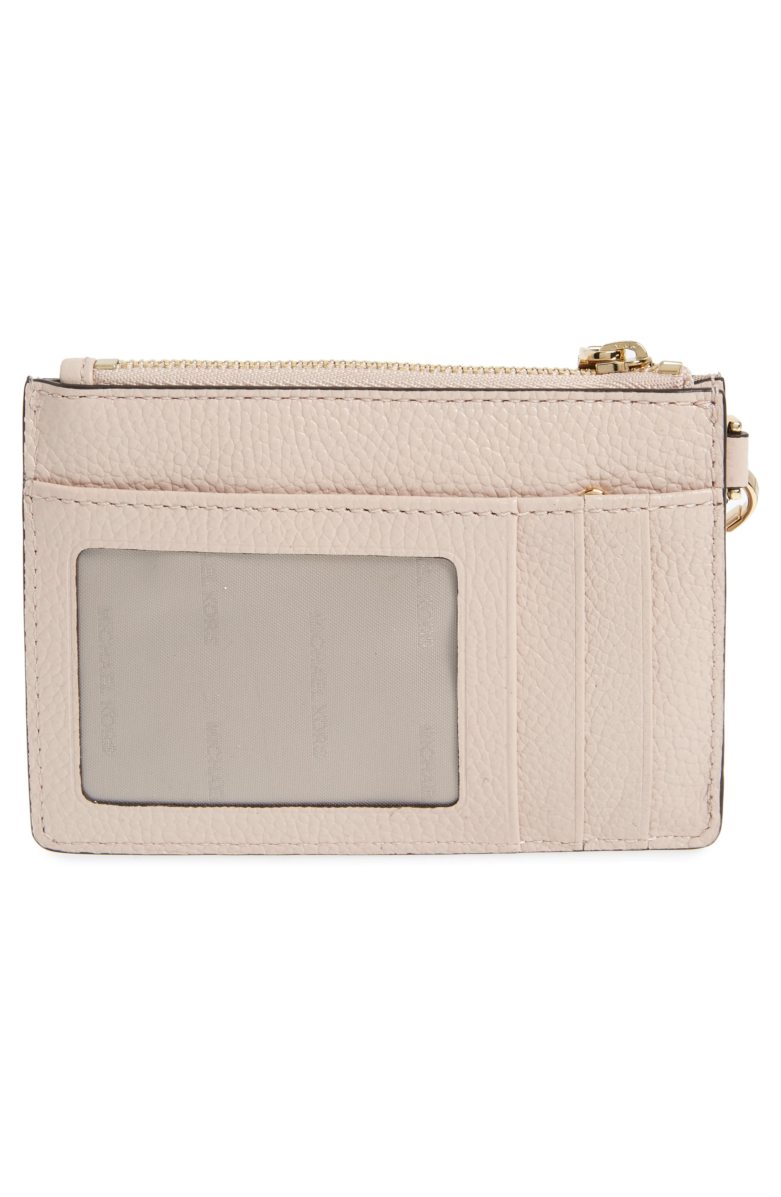 Small Mercer Leather RFID Coin Purse,                             Alternate thumbnail 4, color,                             Soft Pink