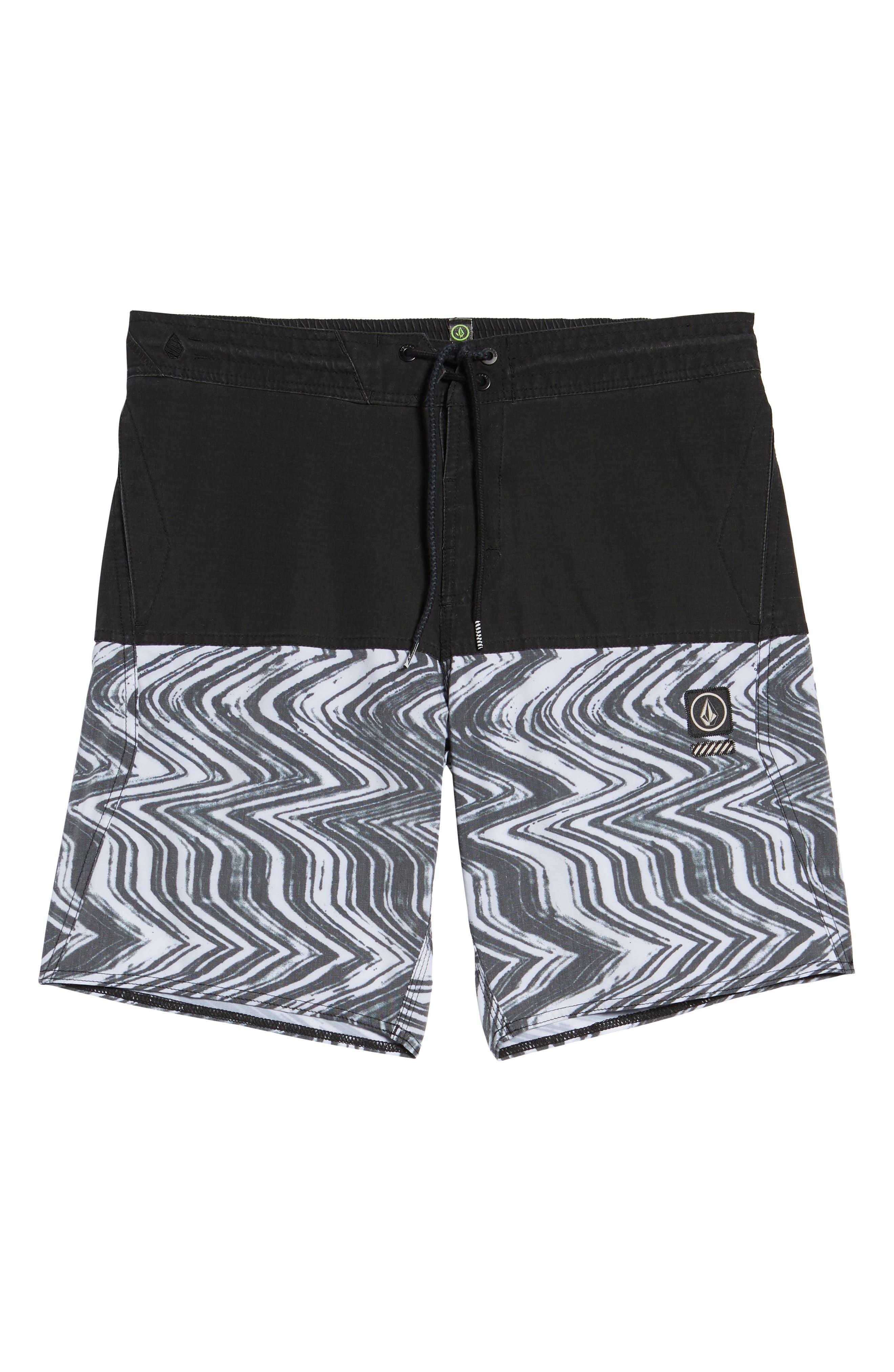 Vibes Half Stoney Board Shorts,                             Alternate thumbnail 6, color,                             Black