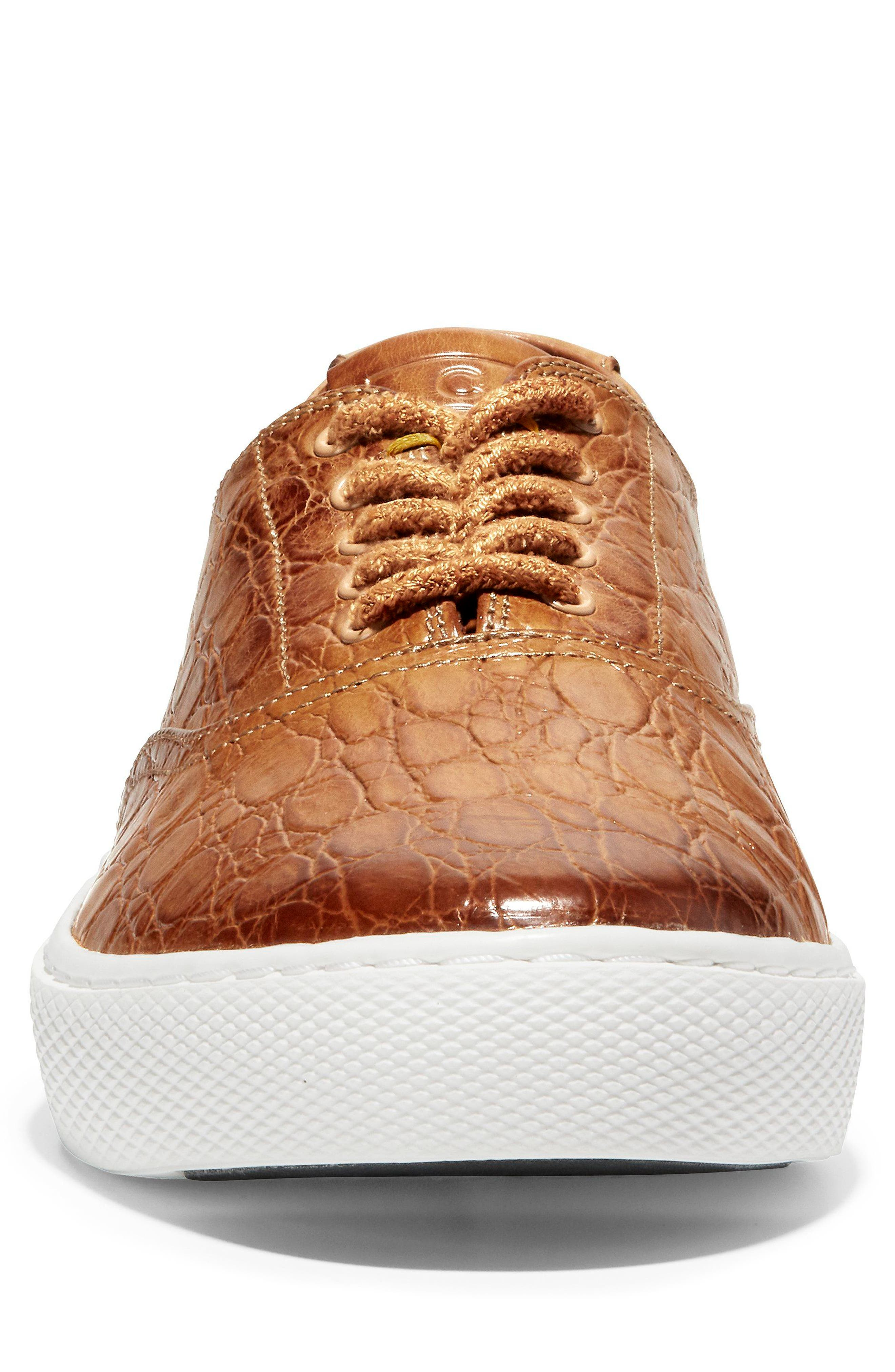 GrandPro Deck Low Top Sneaker,                             Alternate thumbnail 5, color,                             Brown/ White Leather