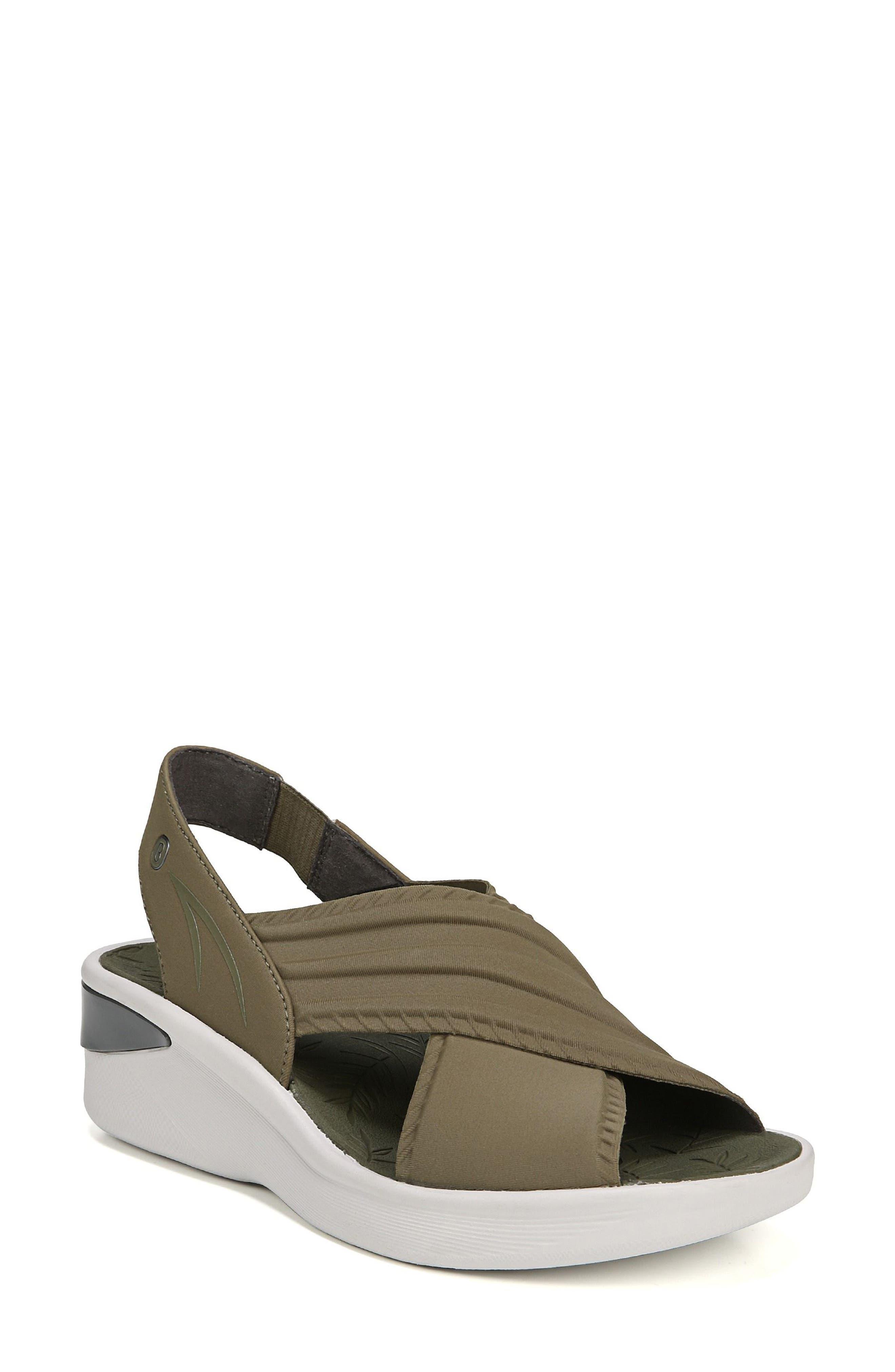 Sunset Wedge Sandal,                             Main thumbnail 1, color,                             Olive Fabric