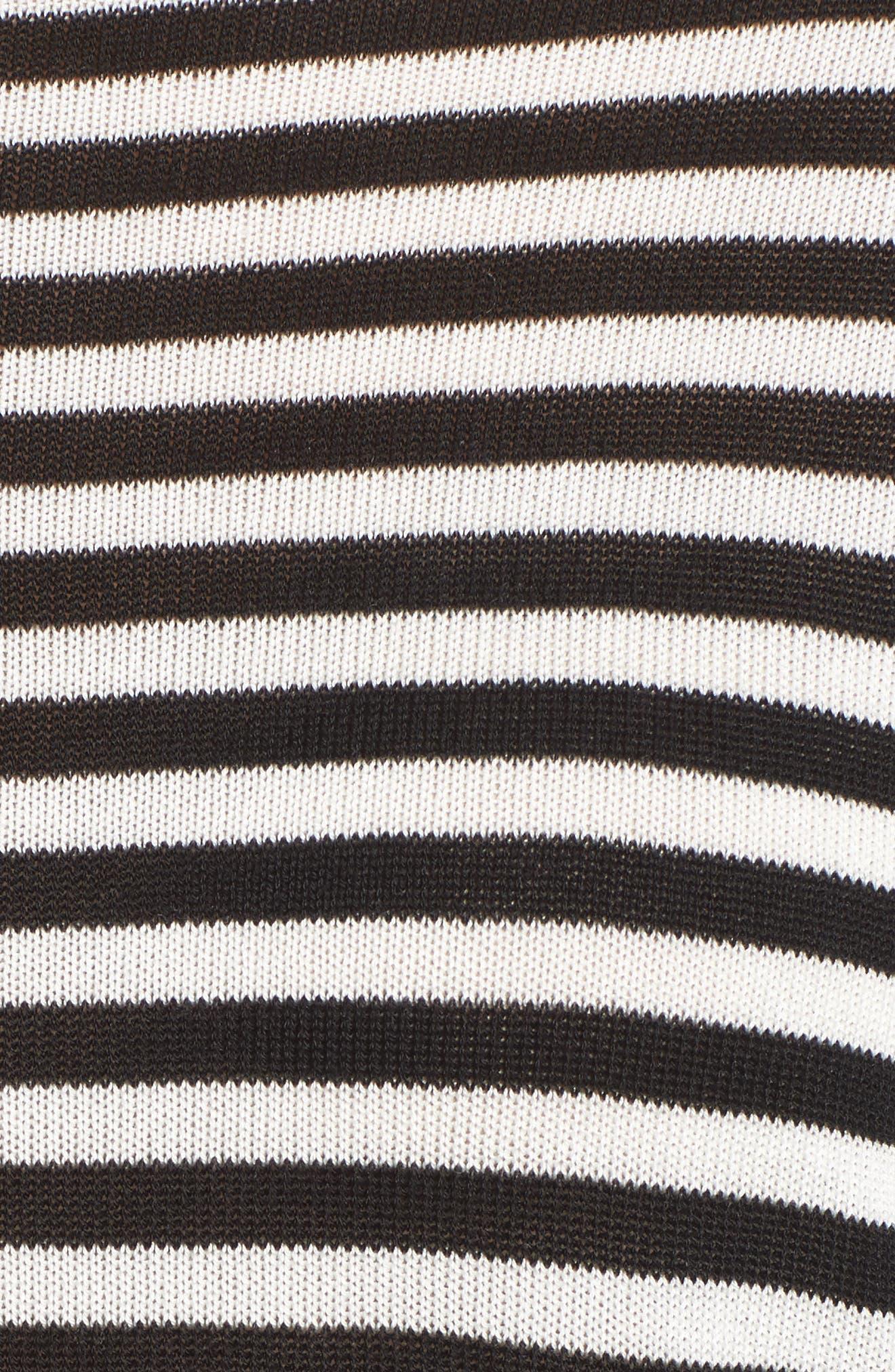 Stripe Tencel<sup>®</sup> Lyocell Knit Sweater,                             Alternate thumbnail 5, color,                             Black/ Soft White