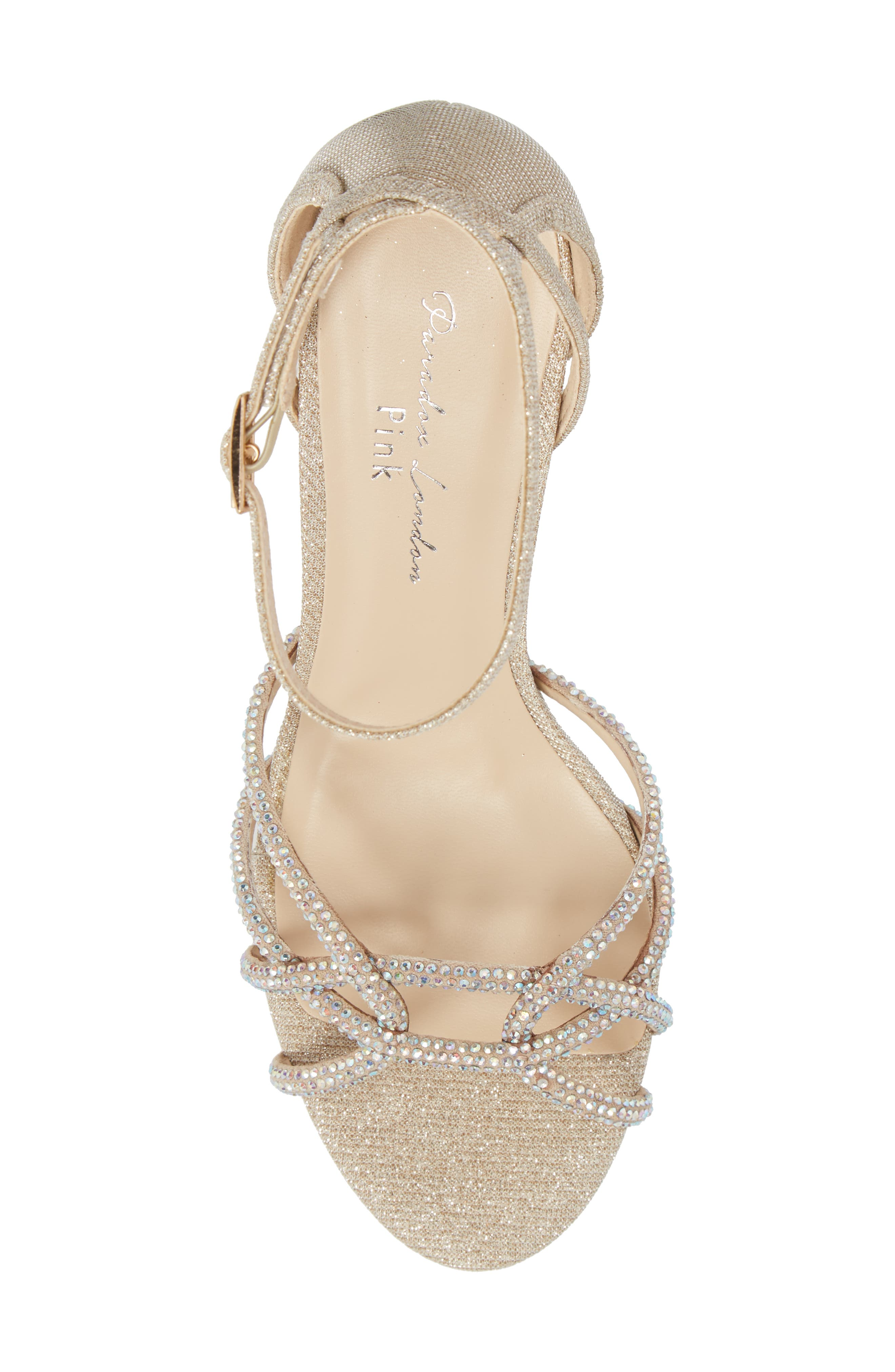 Majesty Sandal,                             Alternate thumbnail 5, color,                             Champagne Fabric