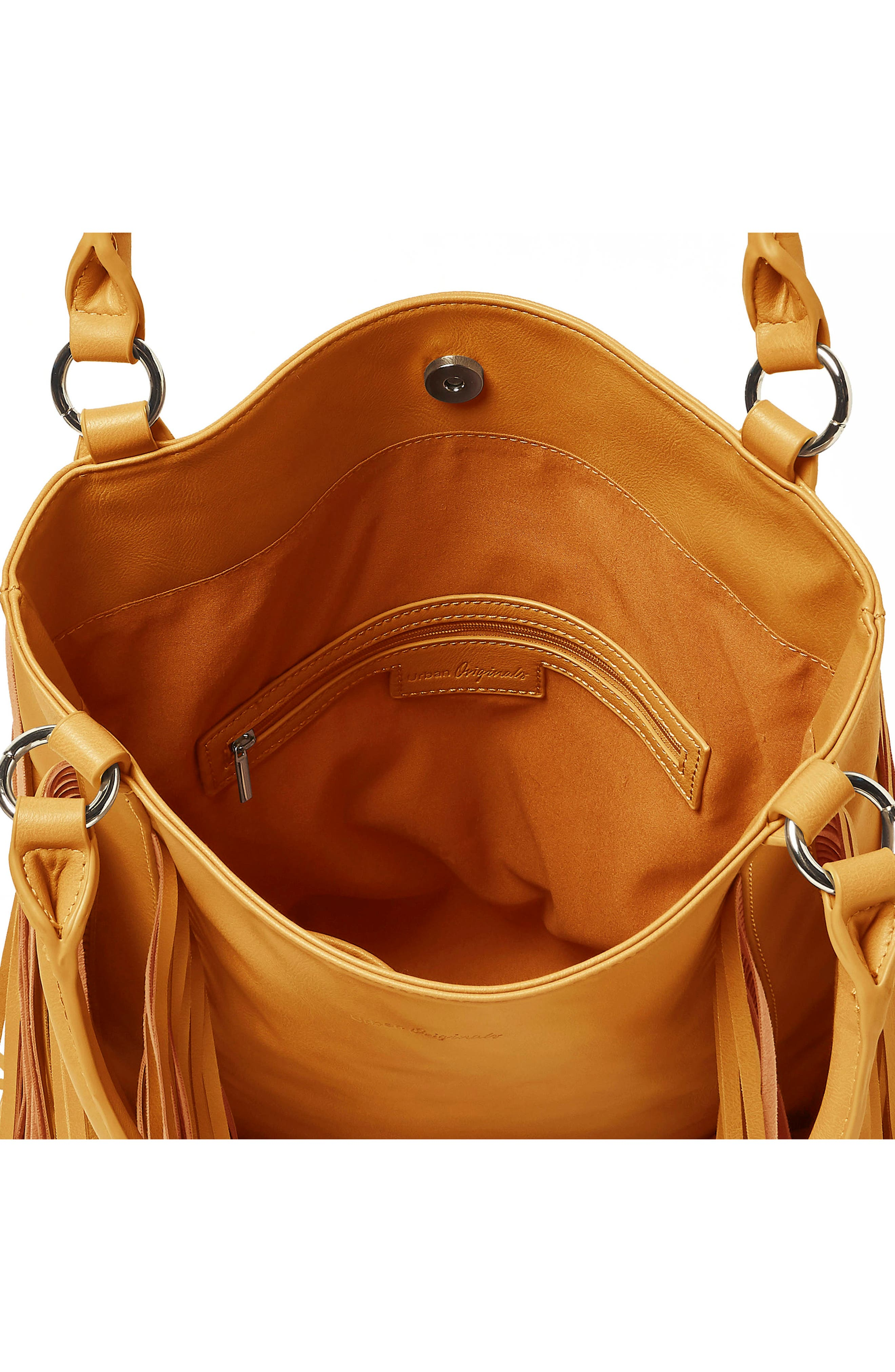 Crazy Love Vegan Leather Tote,                             Alternate thumbnail 3, color,                             Mustard