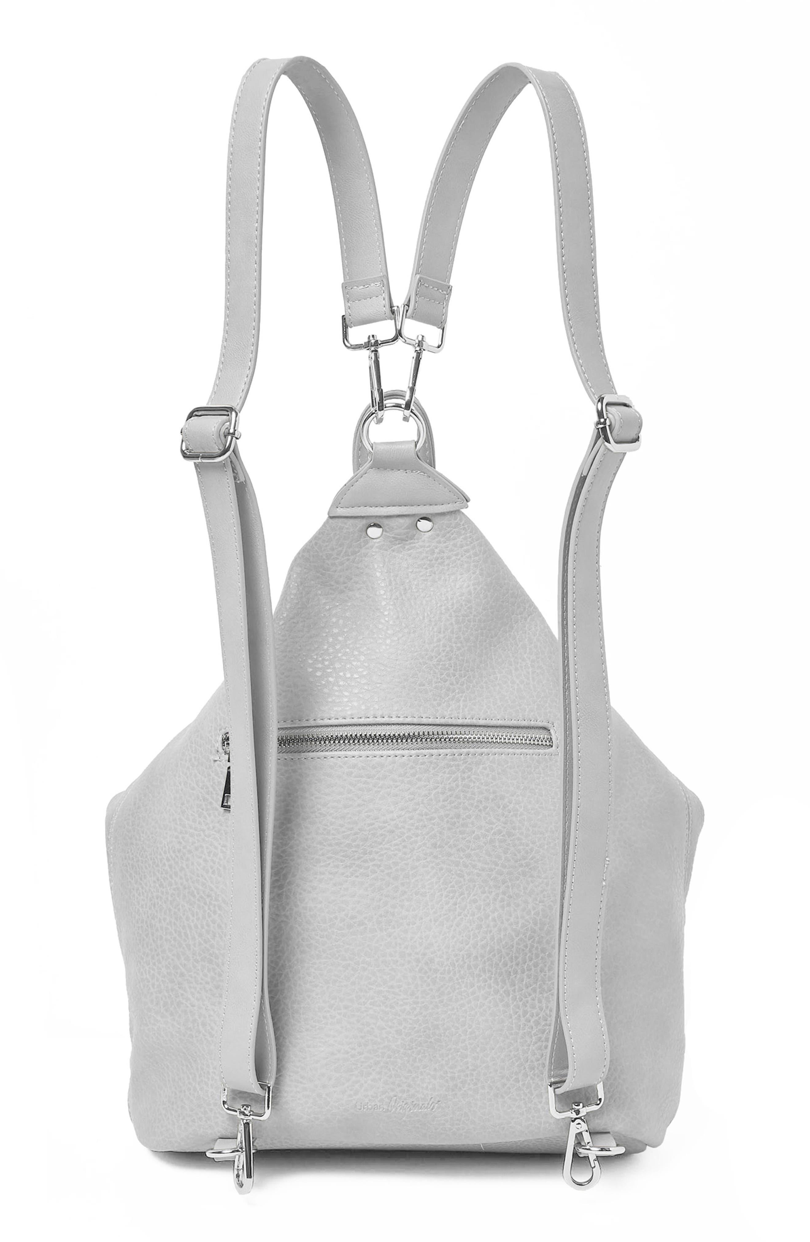Desert Reign Vegan Leather Backpack,                             Alternate thumbnail 3, color,                             Grey