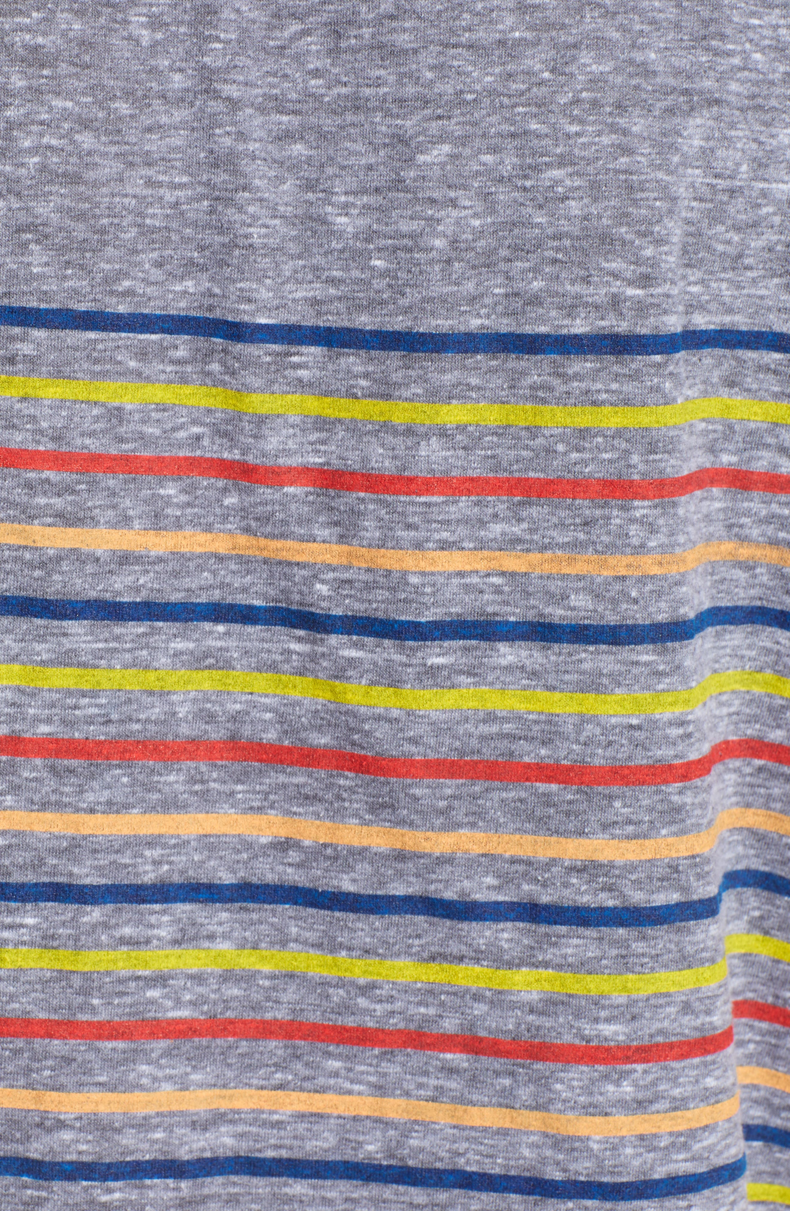 Placed Stripe Tee,                             Alternate thumbnail 6, color,                             Grey