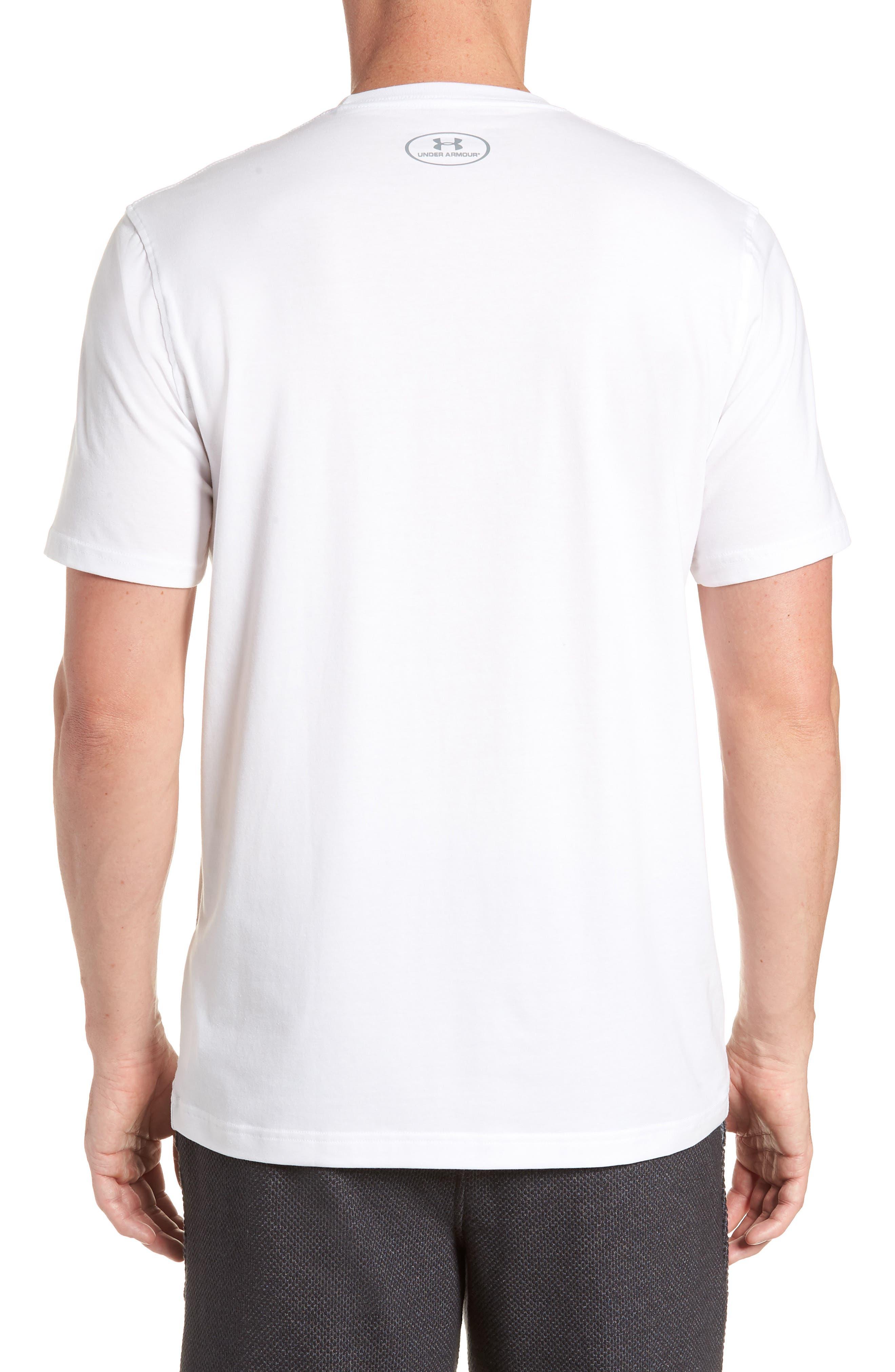 Trim Fit Vanish Logo T-Shirt,                             Alternate thumbnail 2, color,                             White/ Black/ Downtown Green